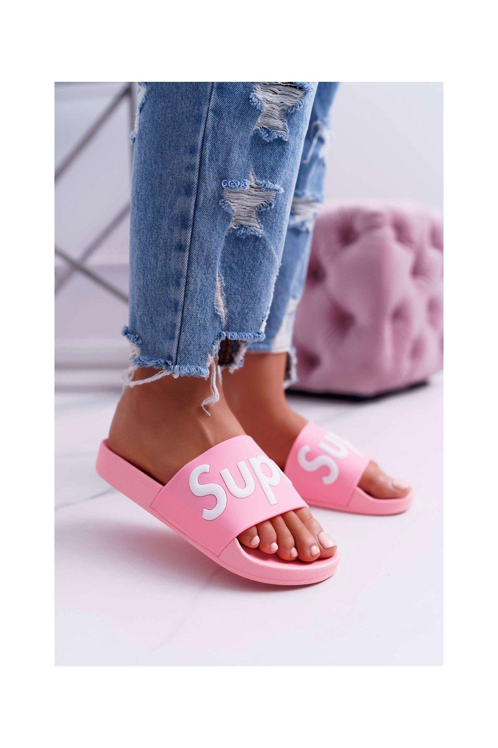 Dámske šľapky farba ružová kód obuvi CK110 PINK