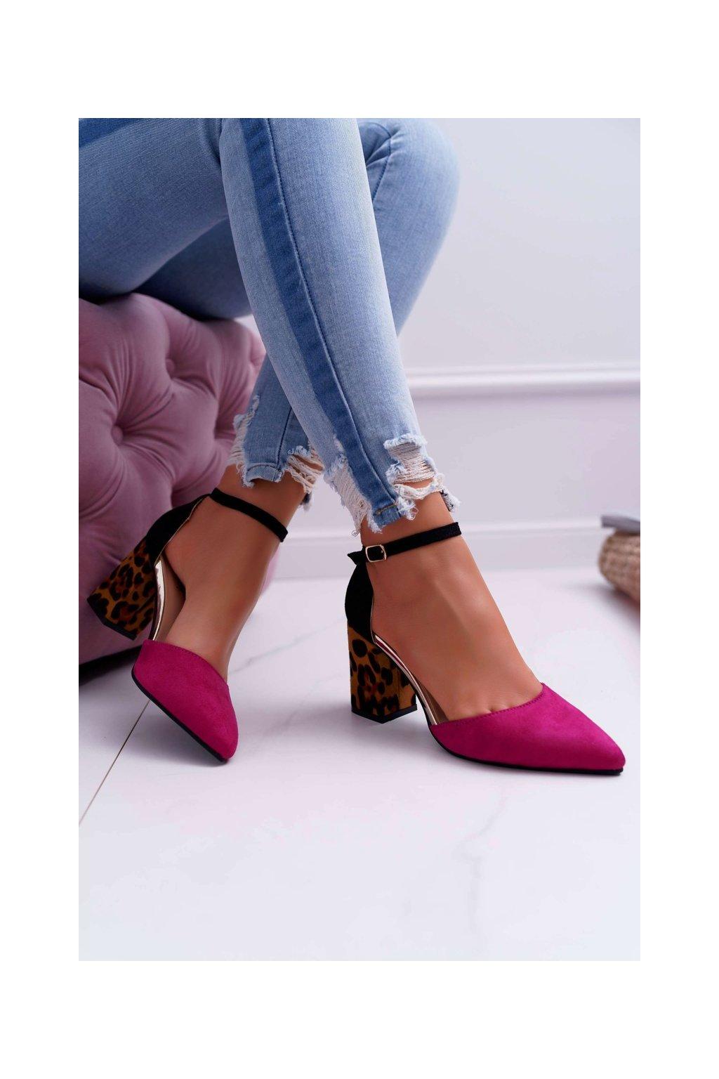 Dámske lodičky farba ružová kód obuvi NC902 FUSHIA