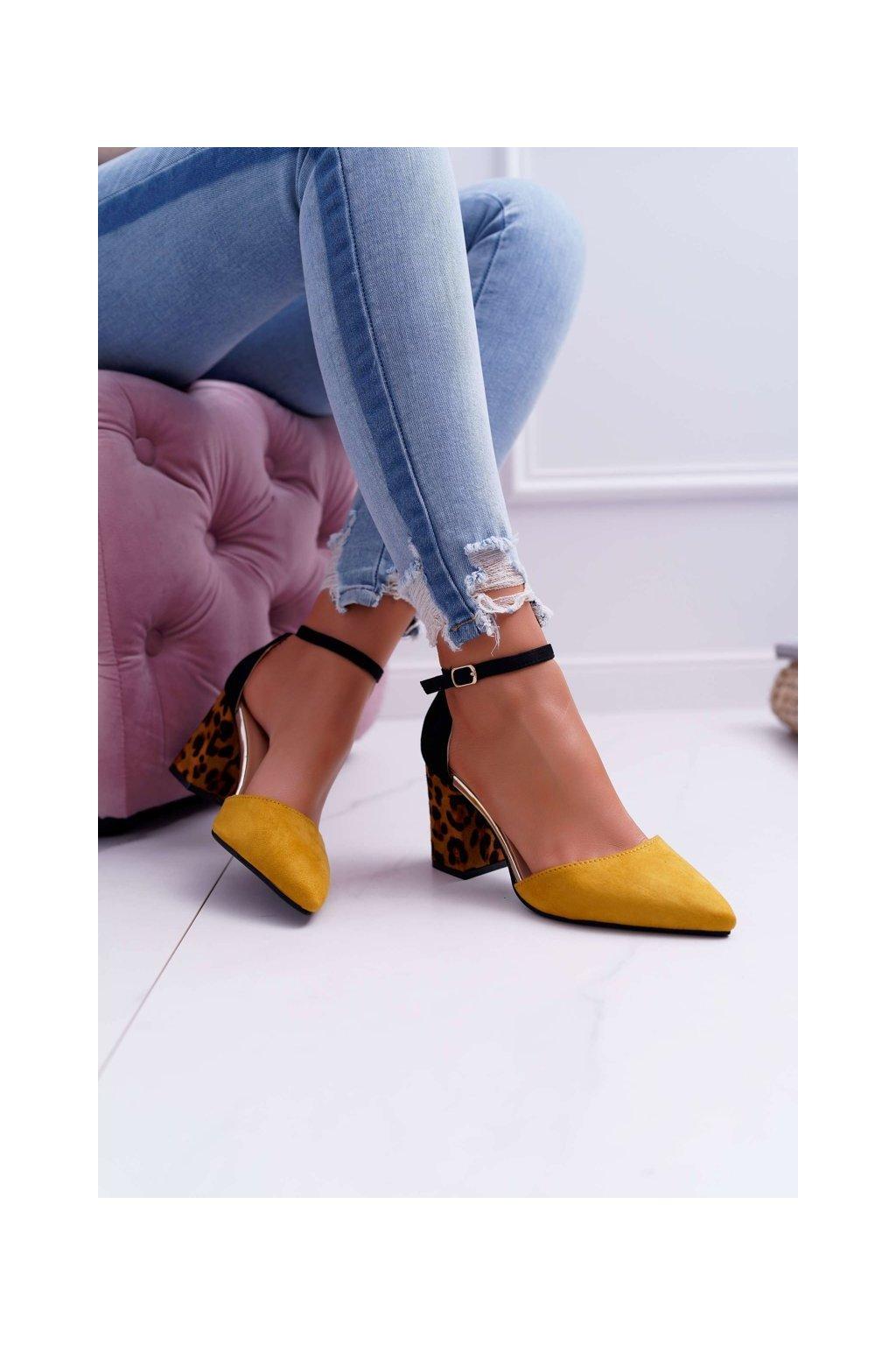 Dámske lodičky farba žltá kód obuvi NC902 YELLOW
