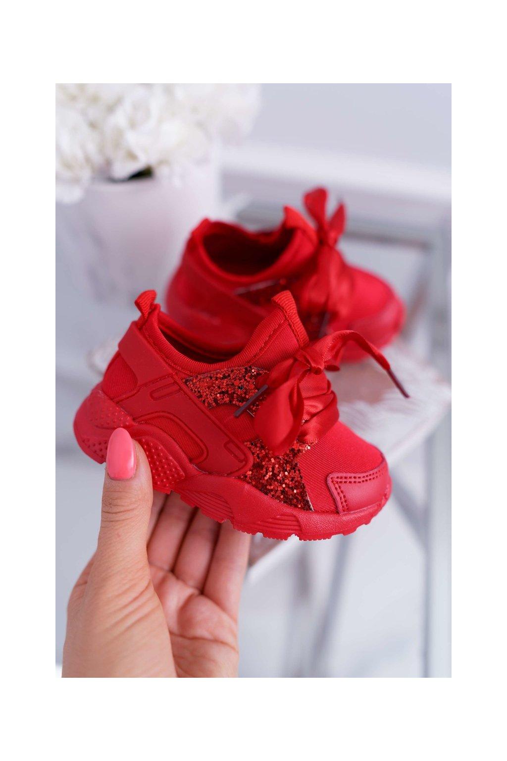 Dámske tenisky farba červená kód obuvi 1357-K RED