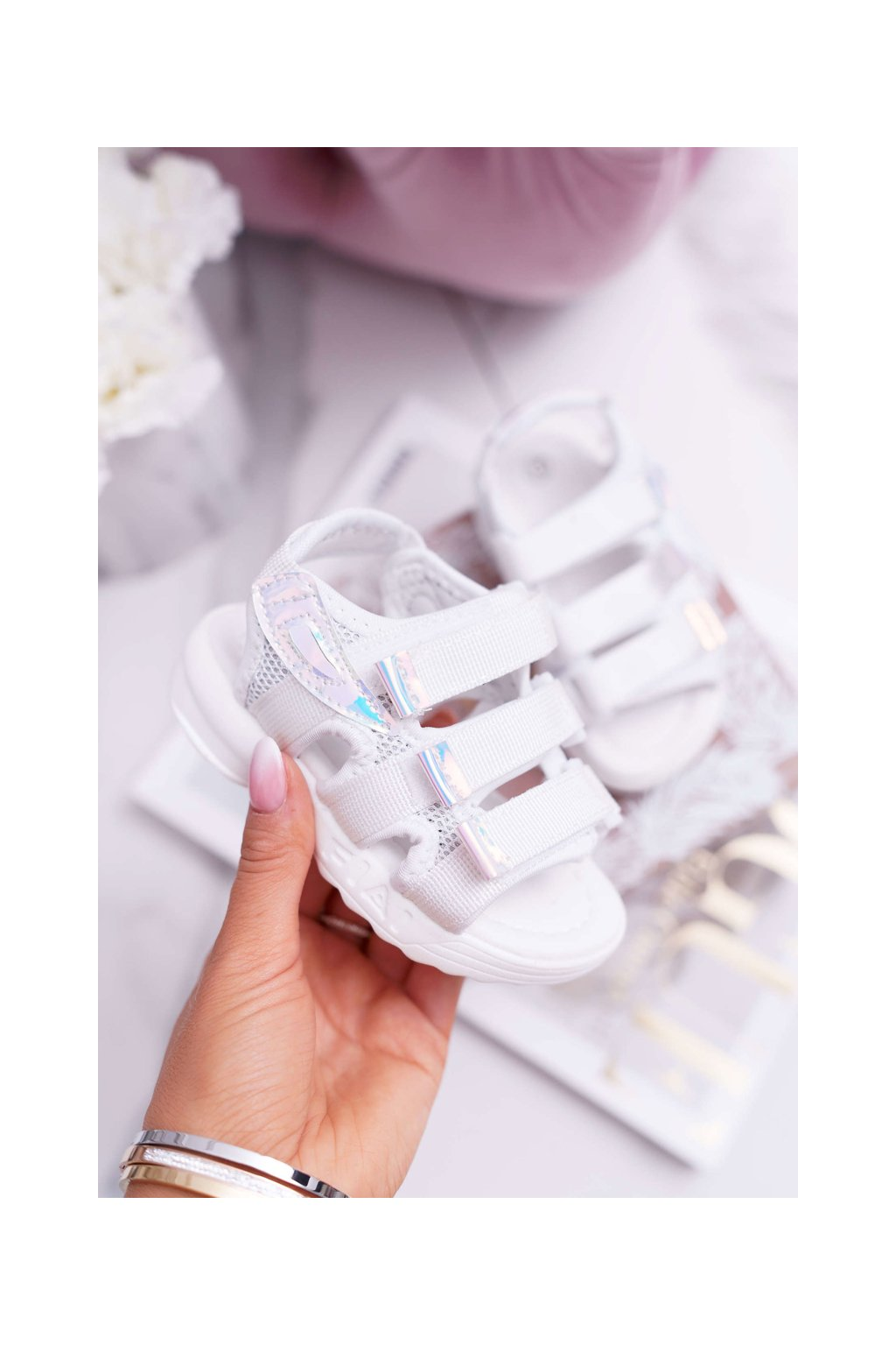Detské sandále farba biela kód obuvi 1716-1 WHITE