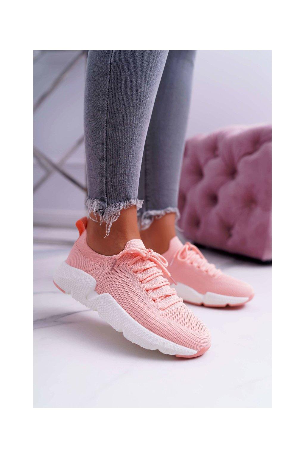 Dámske tenisky farba ružová kód obuvi DD274577 PINK