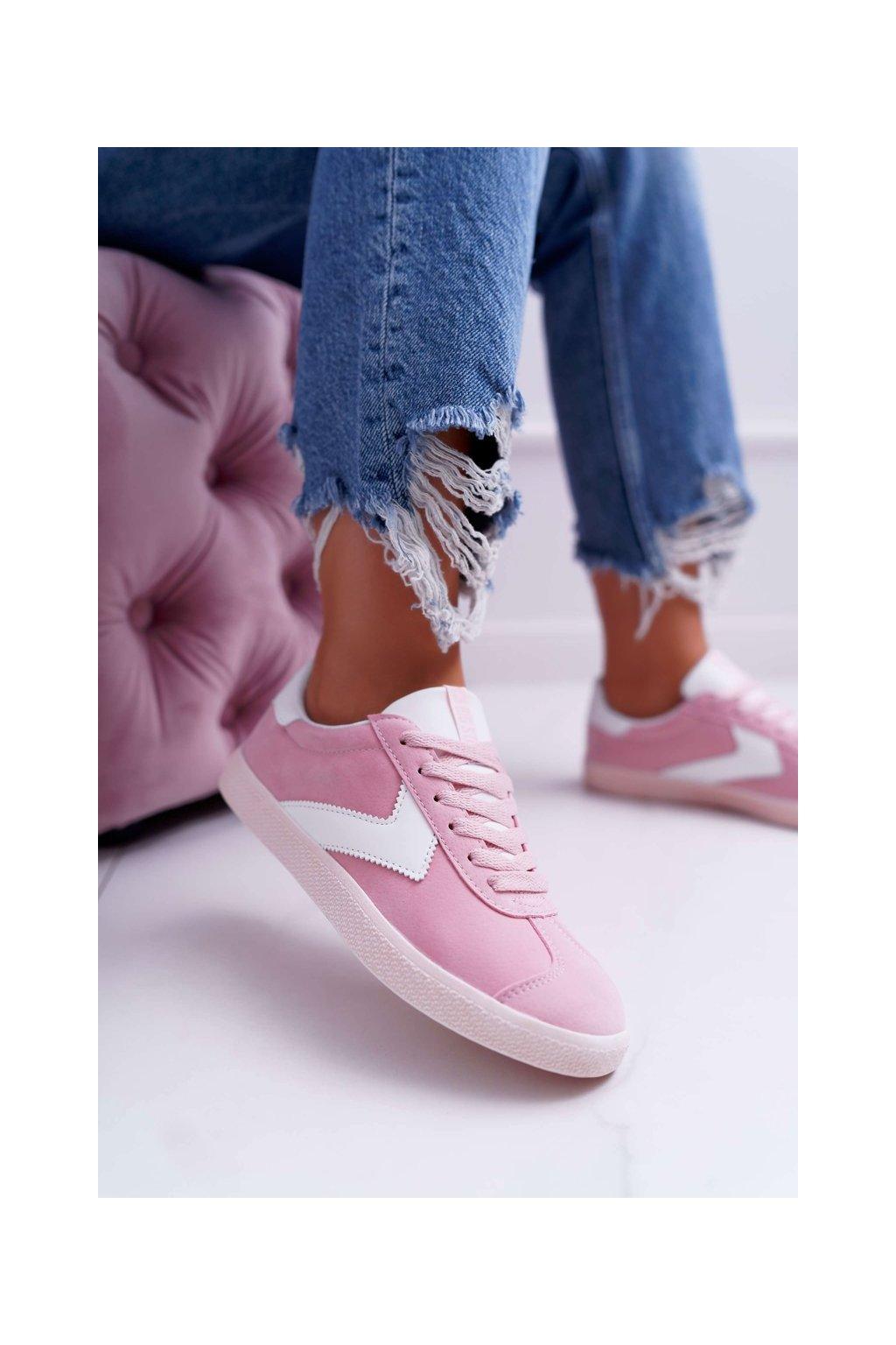 Dámske tenisky farba ružová kód obuvi DD274295 PINK