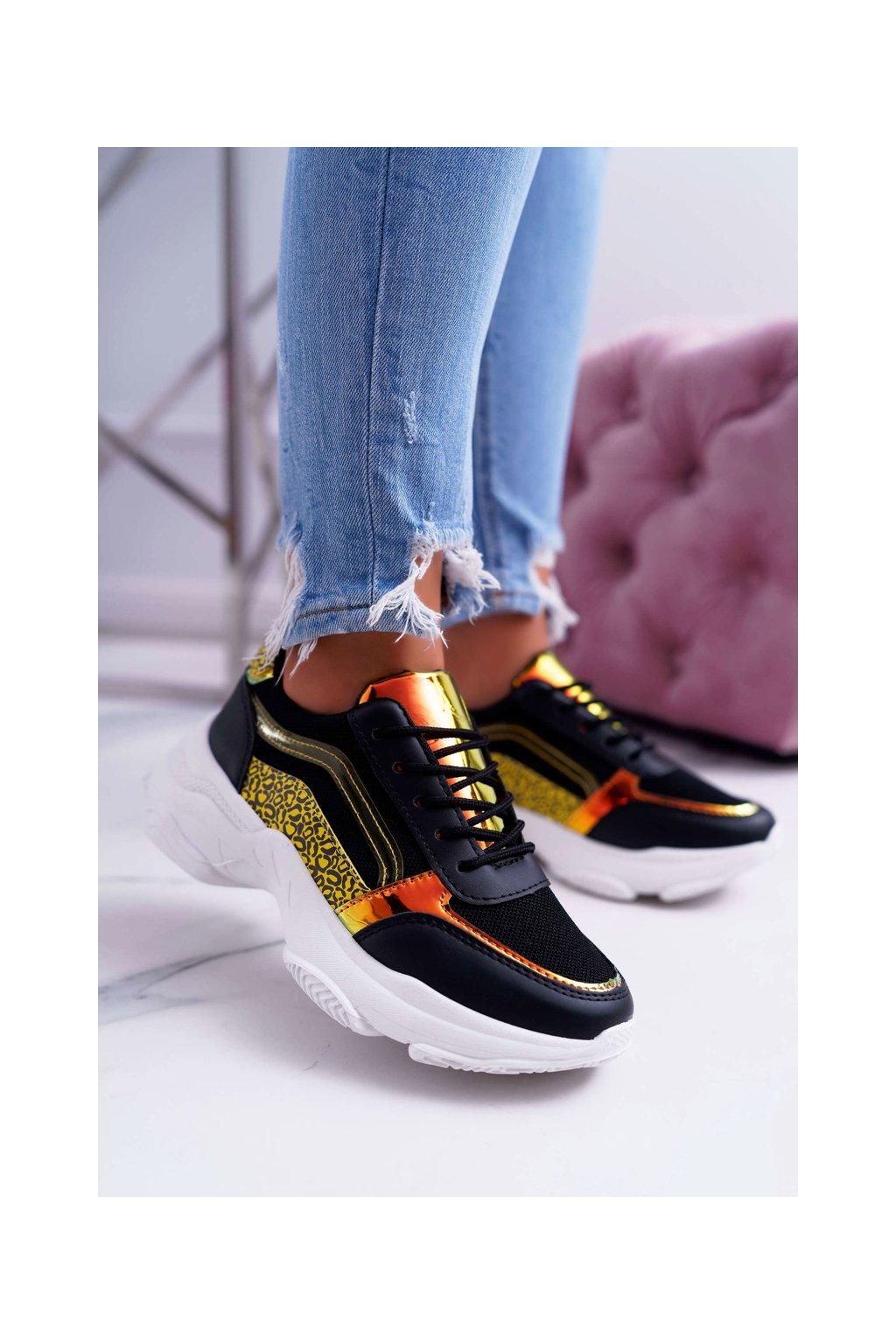Dámska športová obuv s hrubou Podrážkou čierne Lavish