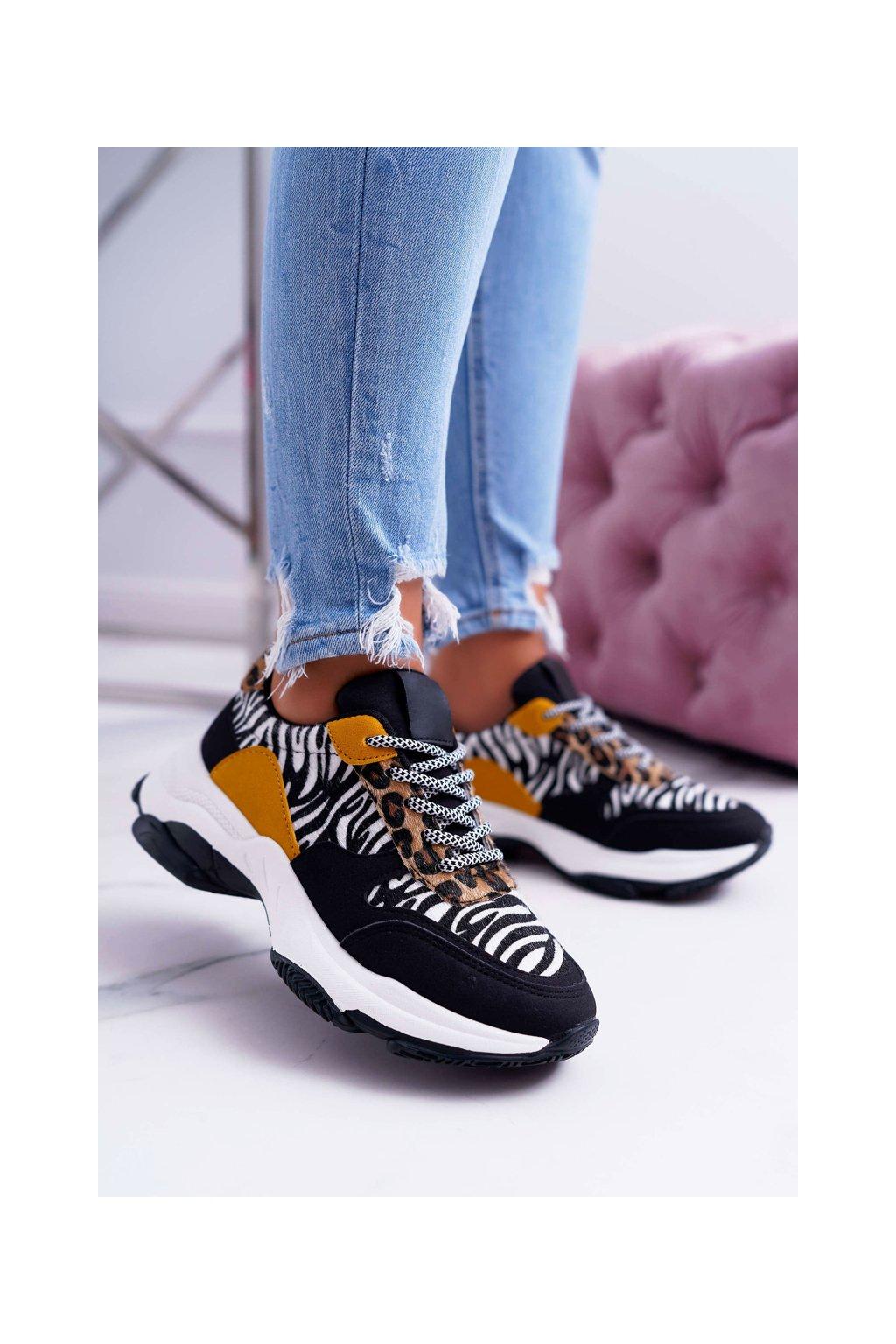 Dámska športová obuv s hrubou Podrážkou Zebra Sevana