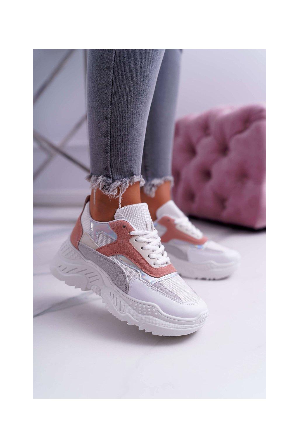 Dámska športová obuv s hrubou Podrážkou ružové Sevana
