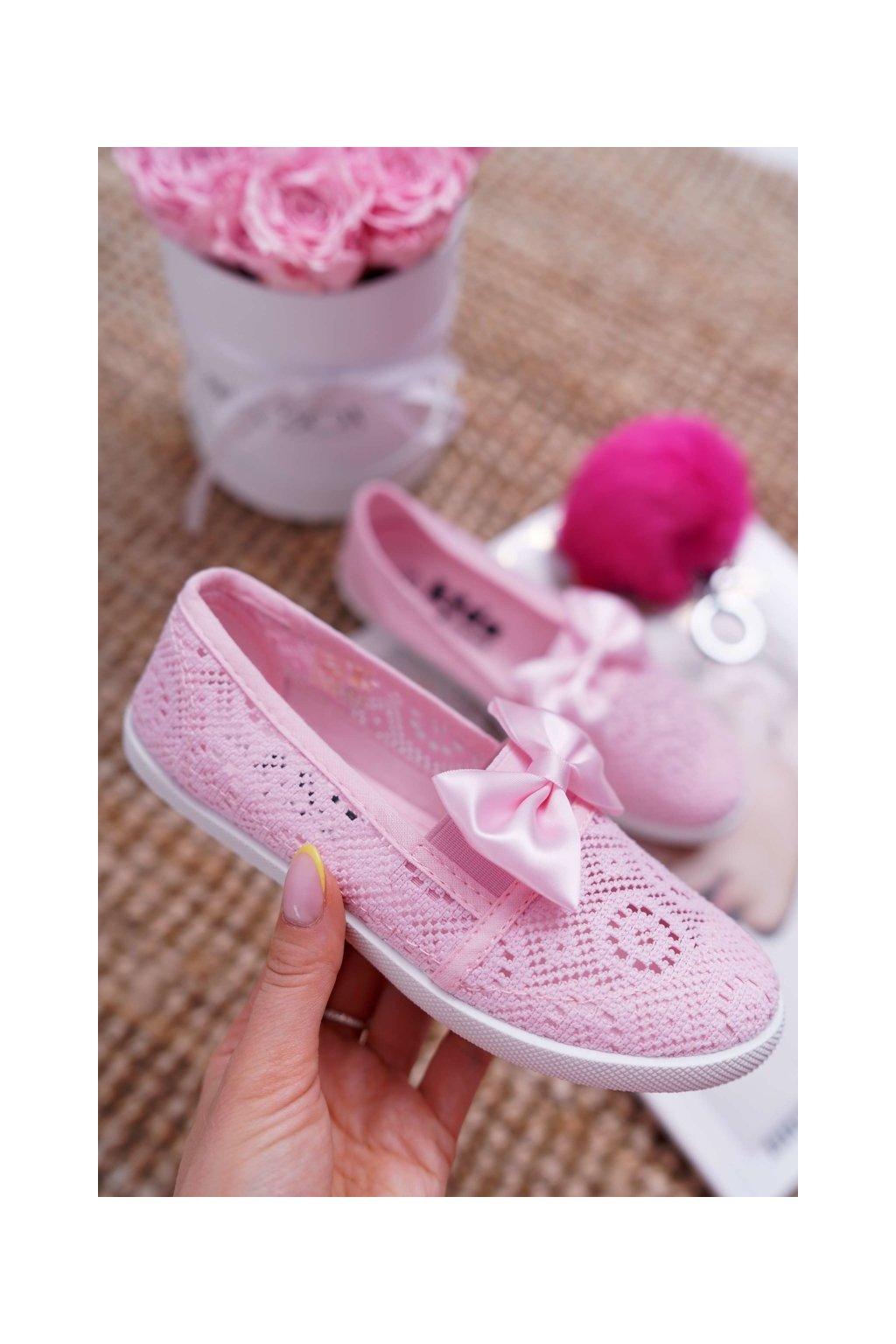 Detské tenisky farba ružová kód obuvi 9DZ020852 PINK