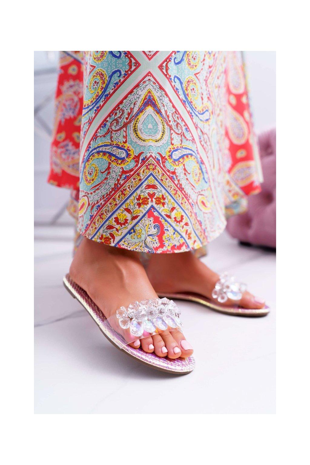 Dámske šľapky farba ružová kód obuvi SF23 PINK