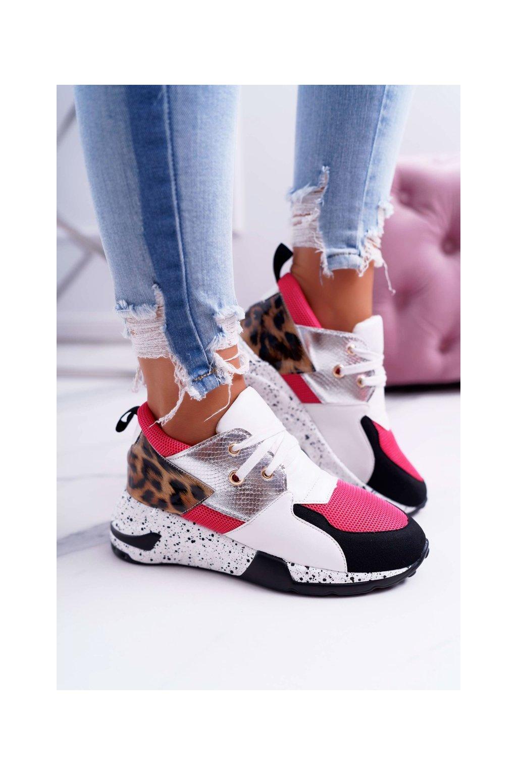 Dámske tenisky farba biela kód obuvi 12553-10 WHITE/RED