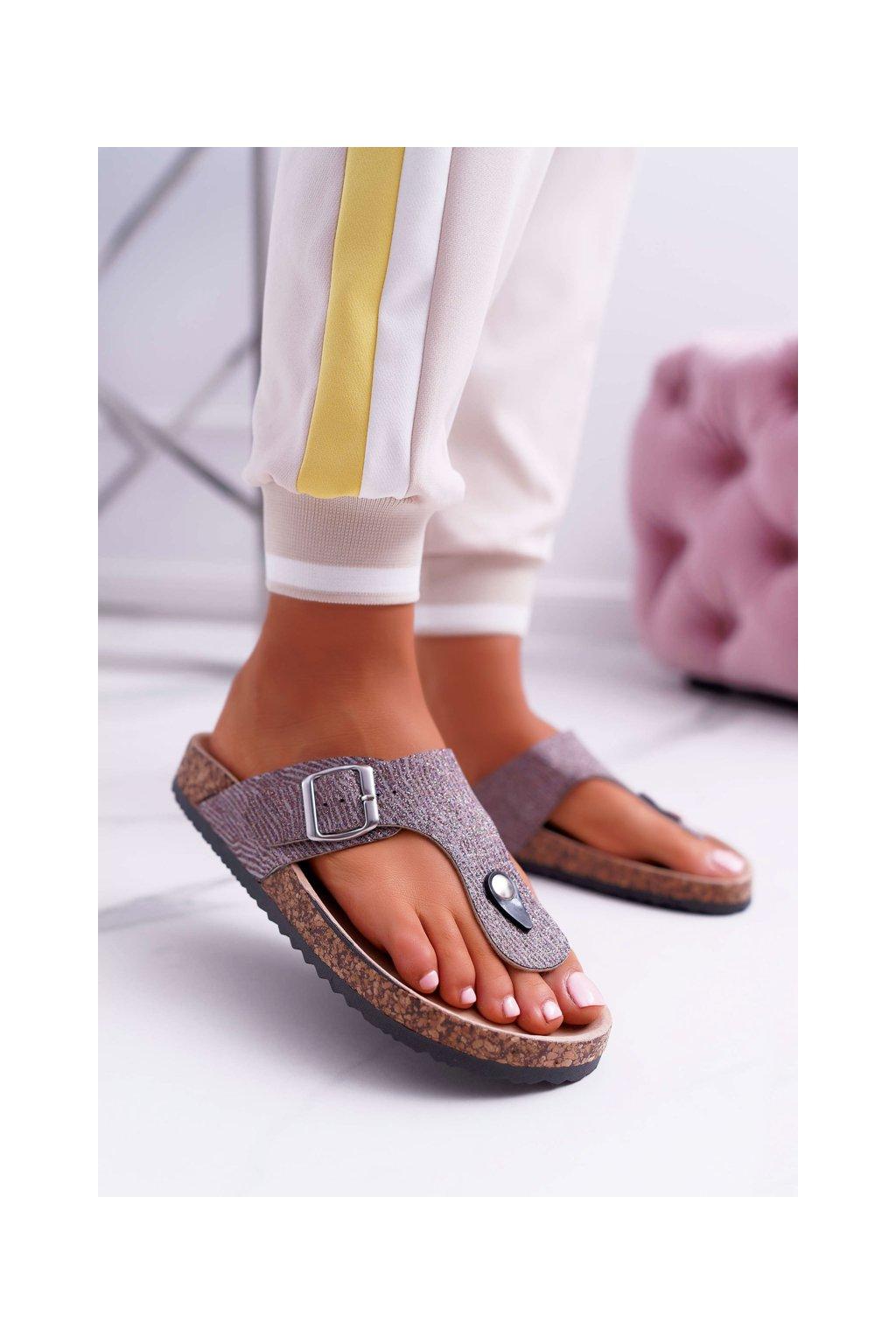 Dámske šľapky farba sivá kód obuvi 9SD21-1093 MULTI