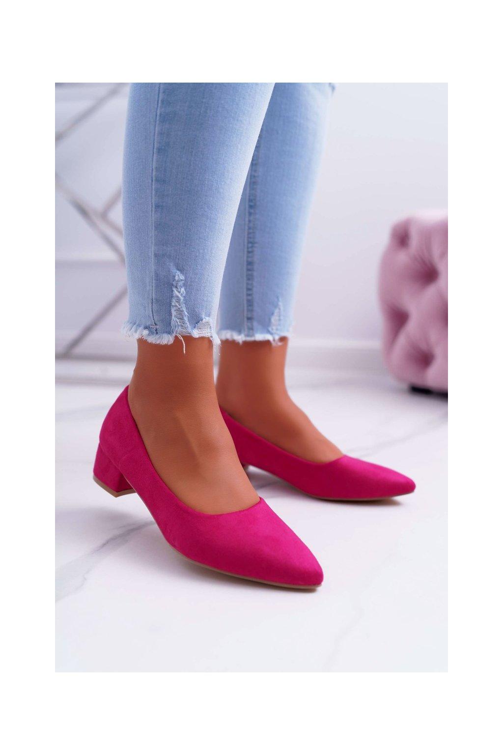 Dámske lodičky farba ružová kód obuvi CC205 FUCHSIA