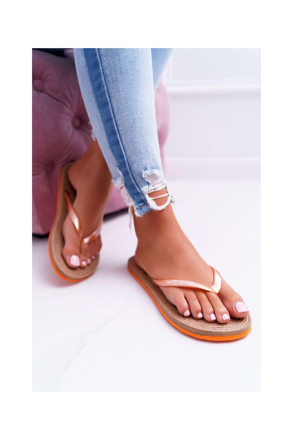 Dámske šľapky farba oranžová kód obuvi AA274A120 ORANGE