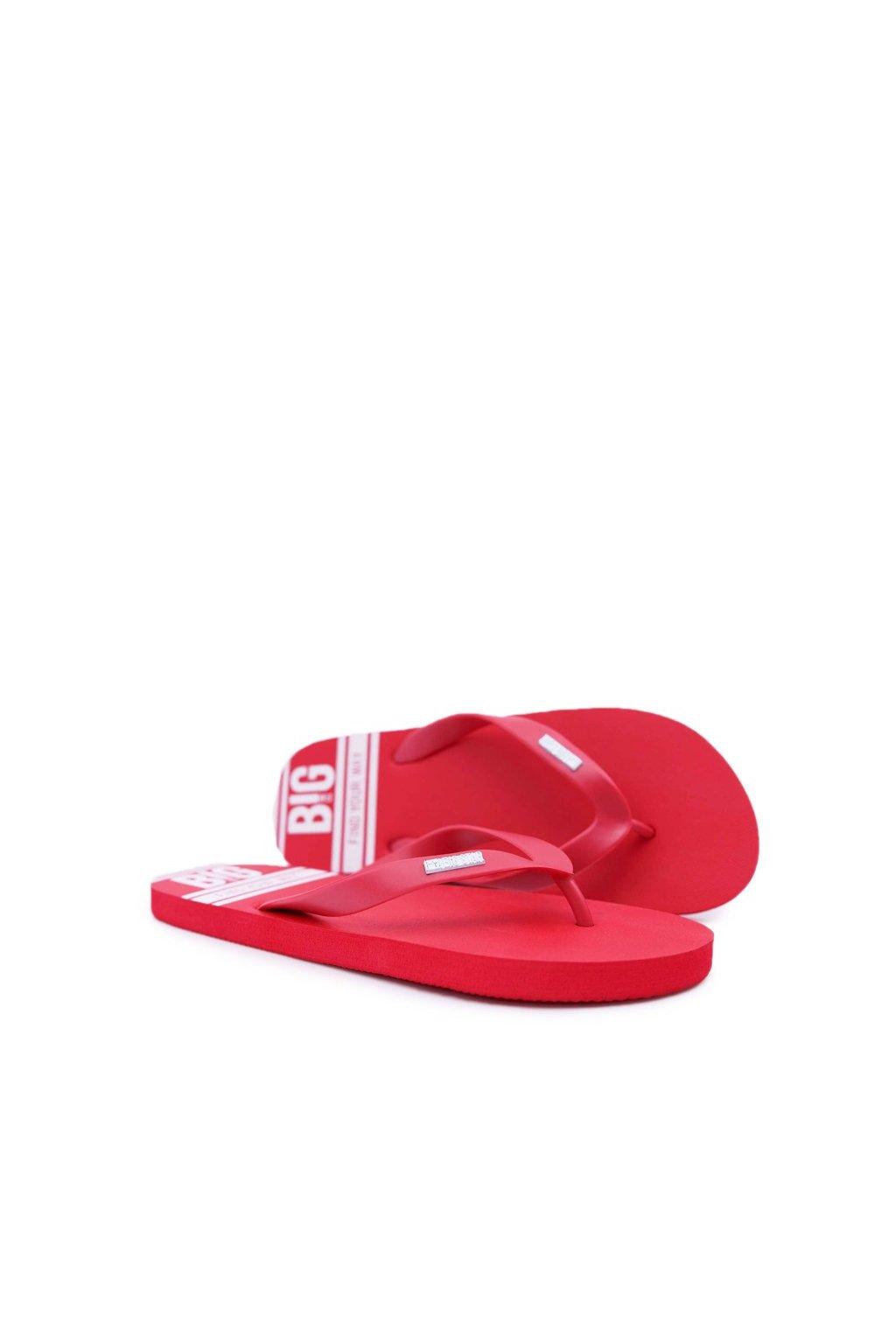 Pánske žabky farba červená kód obuvi AA174416 RED