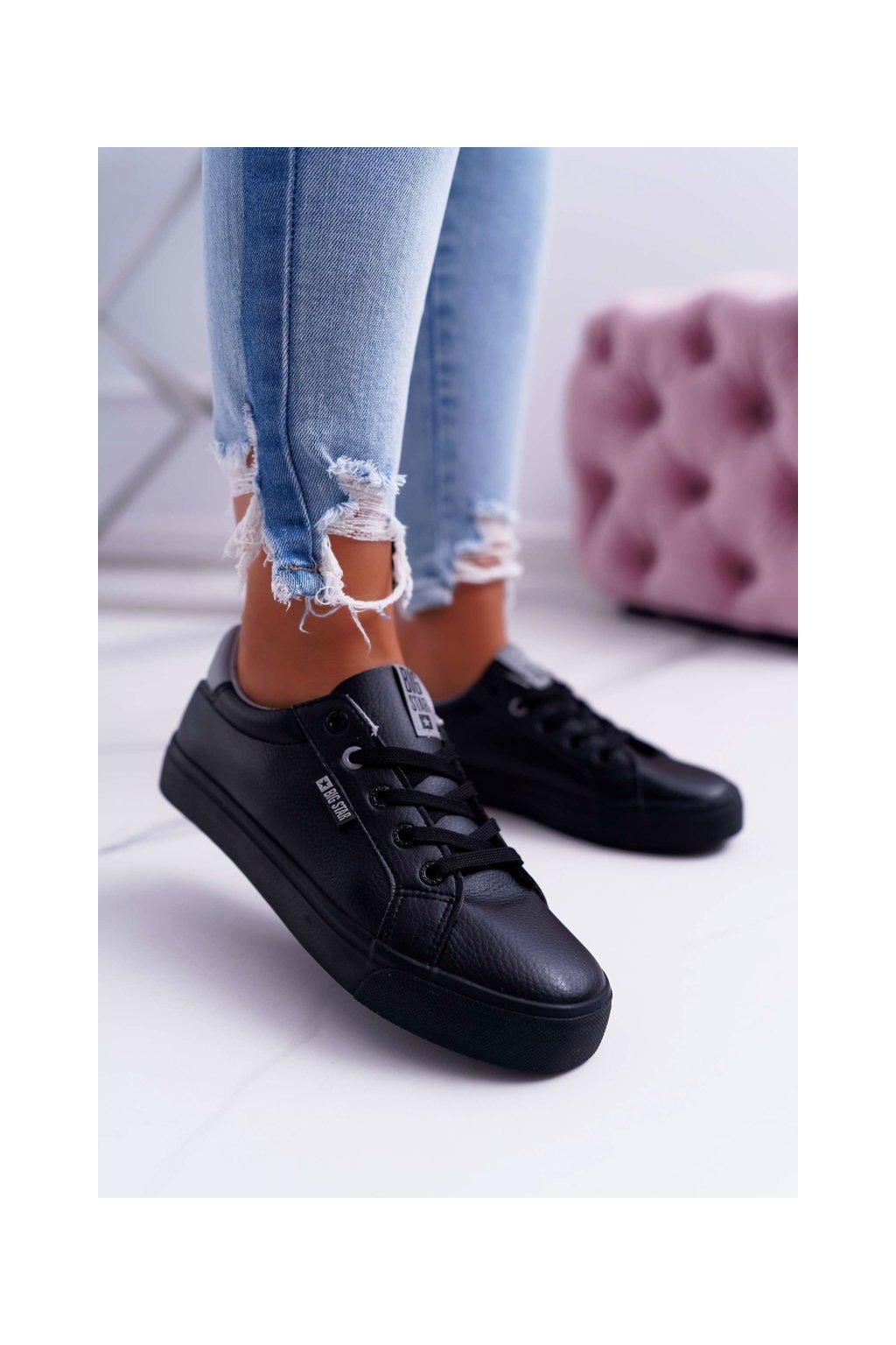 Dámske tenisky farba čierna kód obuvi EE274314 BLK GREY
