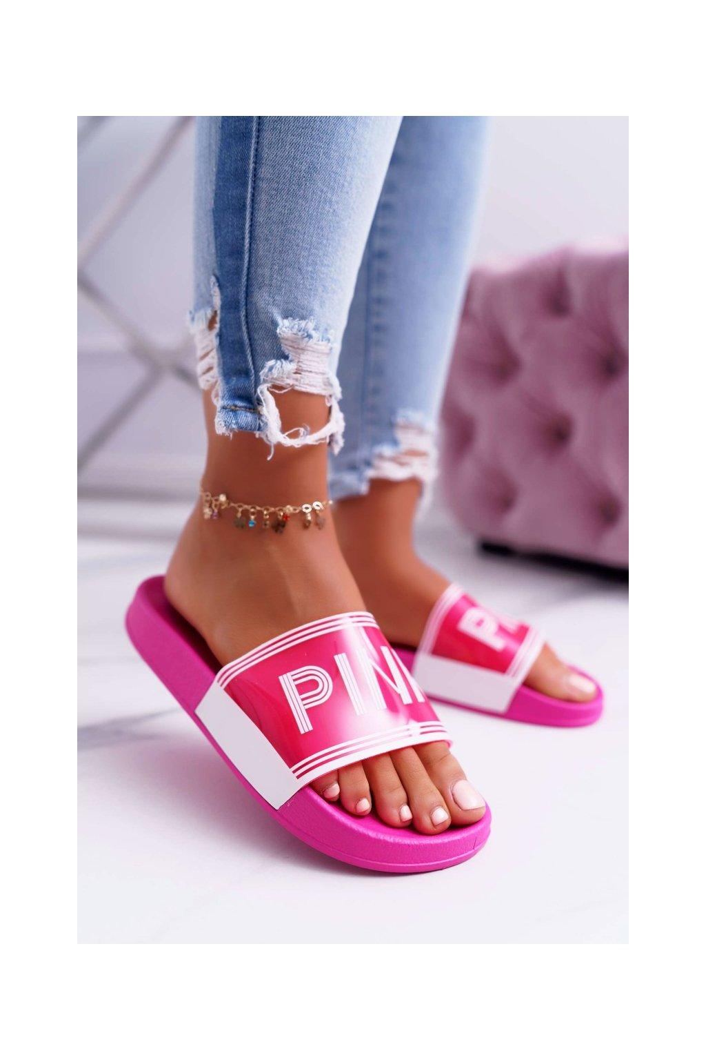 Dámske šľapky farba ružová kód obuvi ZD811-11 PEACH BLOSSOM