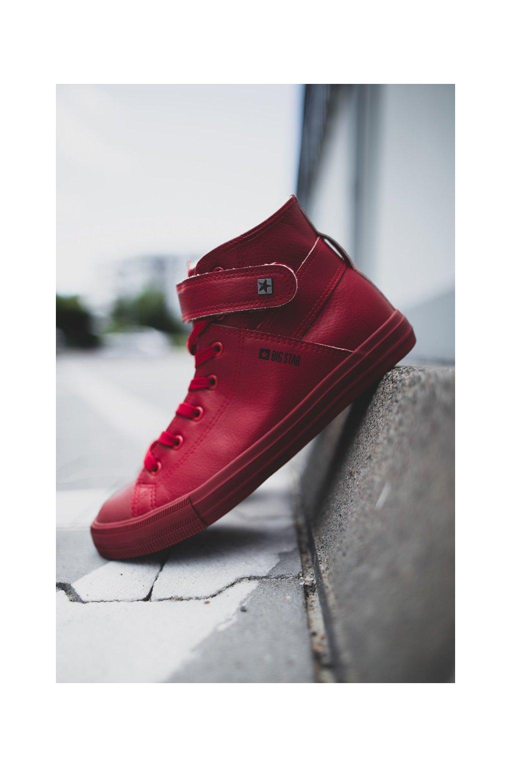 Červená obuv kód topánok Y174025FW RED