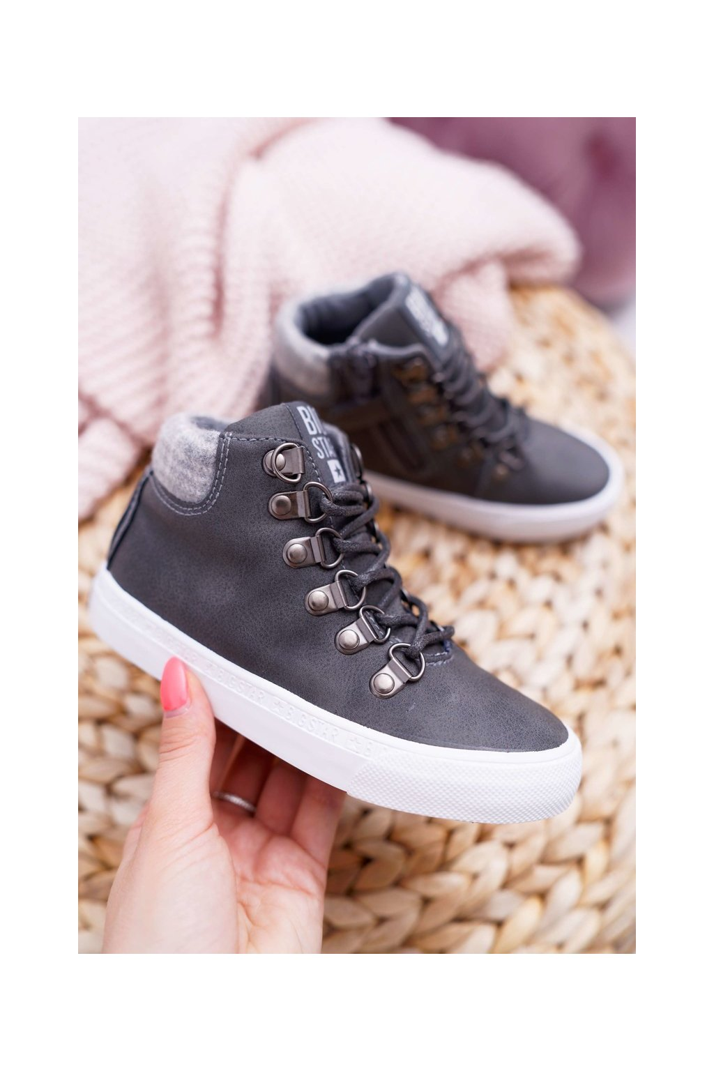 Detské tenisky farba sivá kód obuvi EE374040 GREY