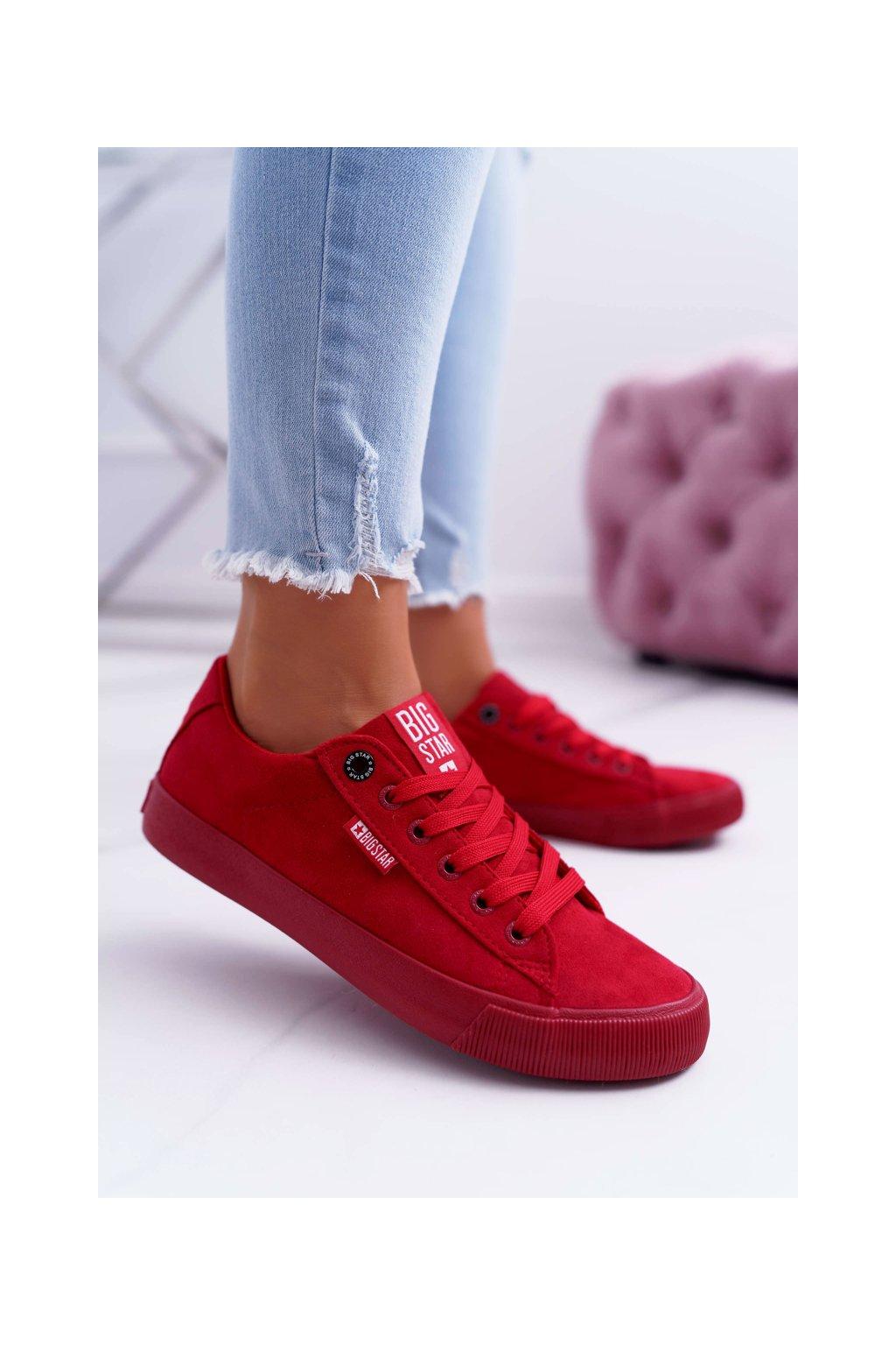 Dámske tenisky farba červená kód obuvi EE274044 RED