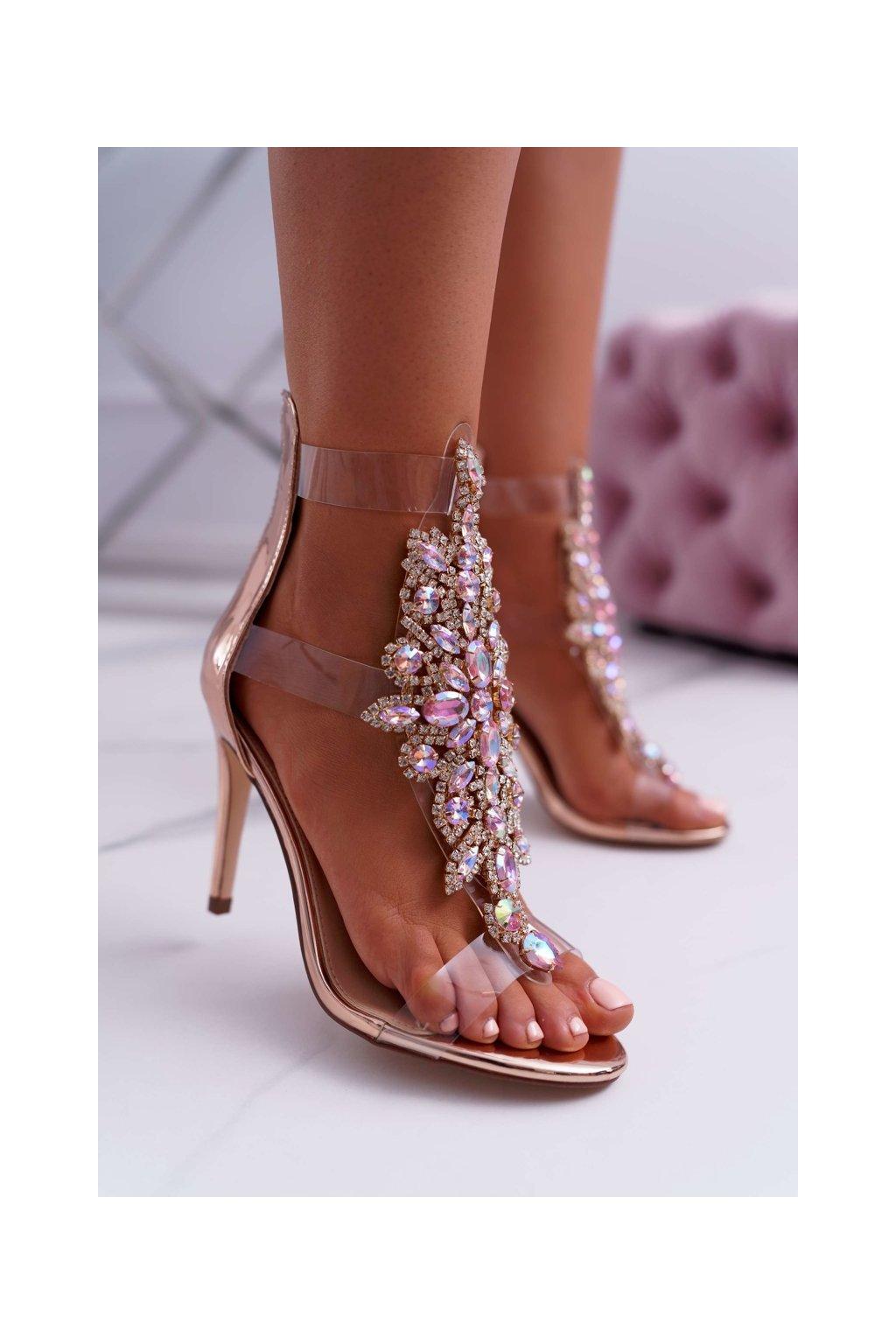 Dámske sandále farba ružová kód obuvi 2047-89 ROSE GOLD