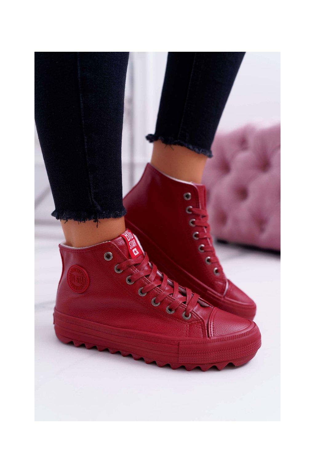 Dámske tenisky farba červená kód obuvi EE274112 RED