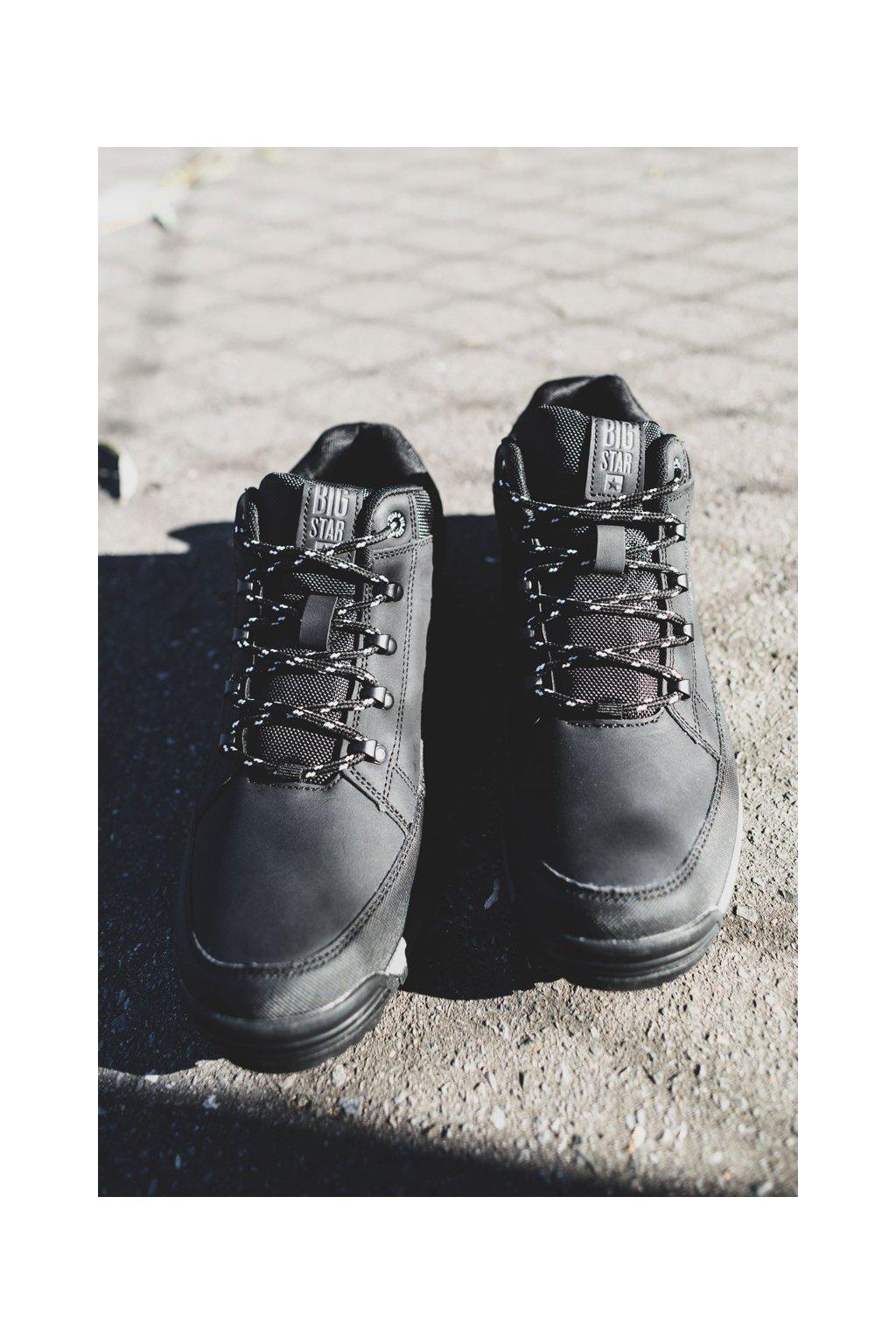 Pánske trekingové topánky farba čierna kód obuvi EE174465 BLK