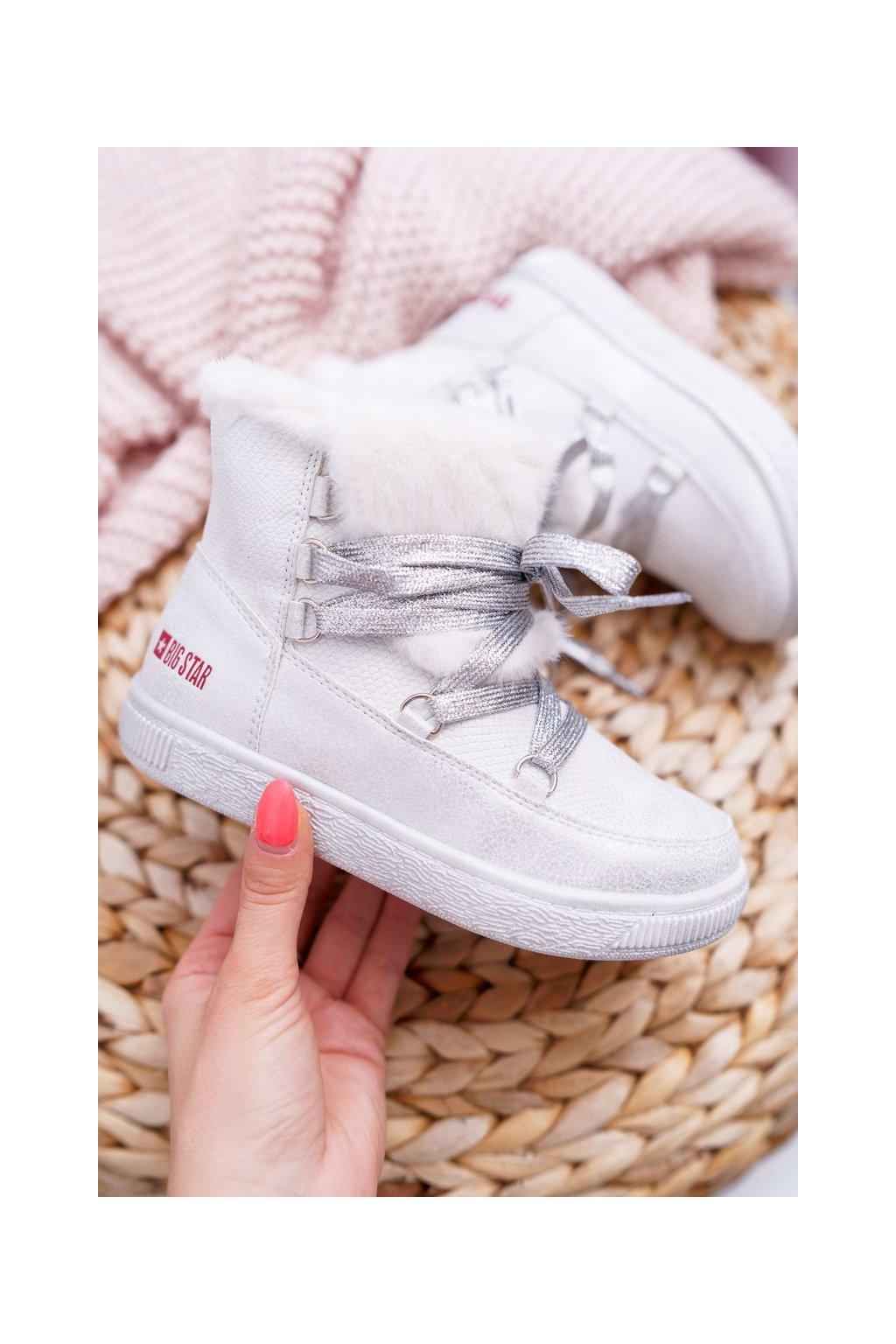Detské členkové topánky farba biela kód obuvi EE374079 WHITE