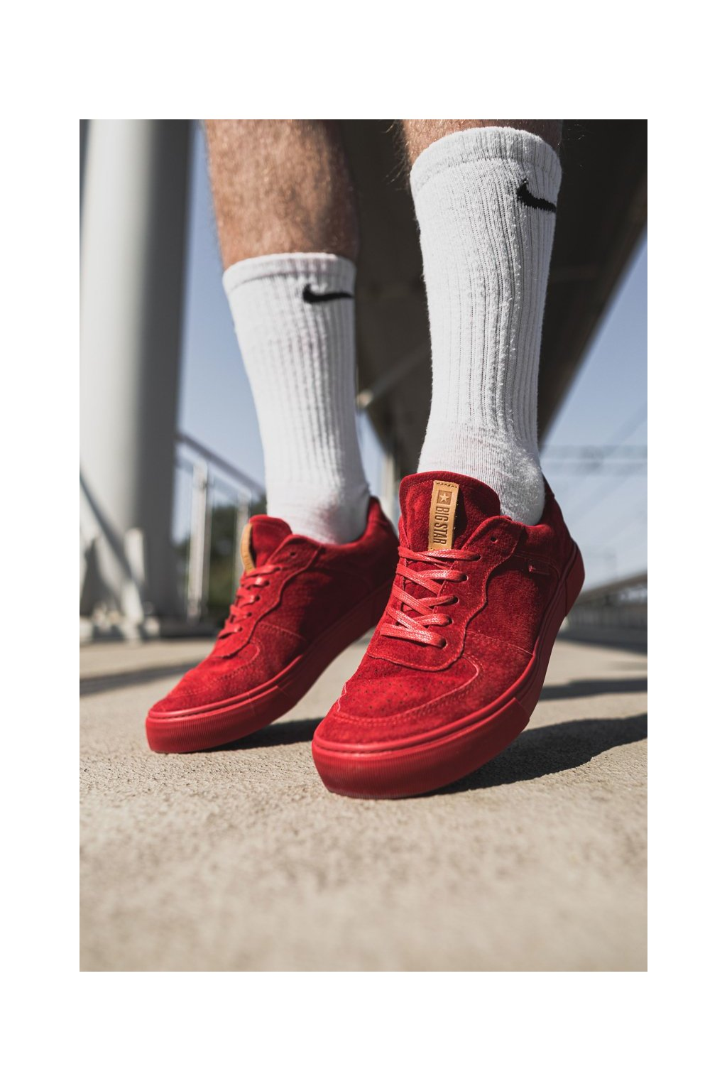 Červená obuv kód topánok EE174364 RED