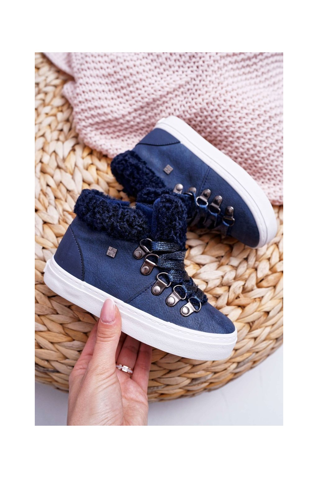 Detské tenisky farba modrá kód obuvi EE374018 NAVY