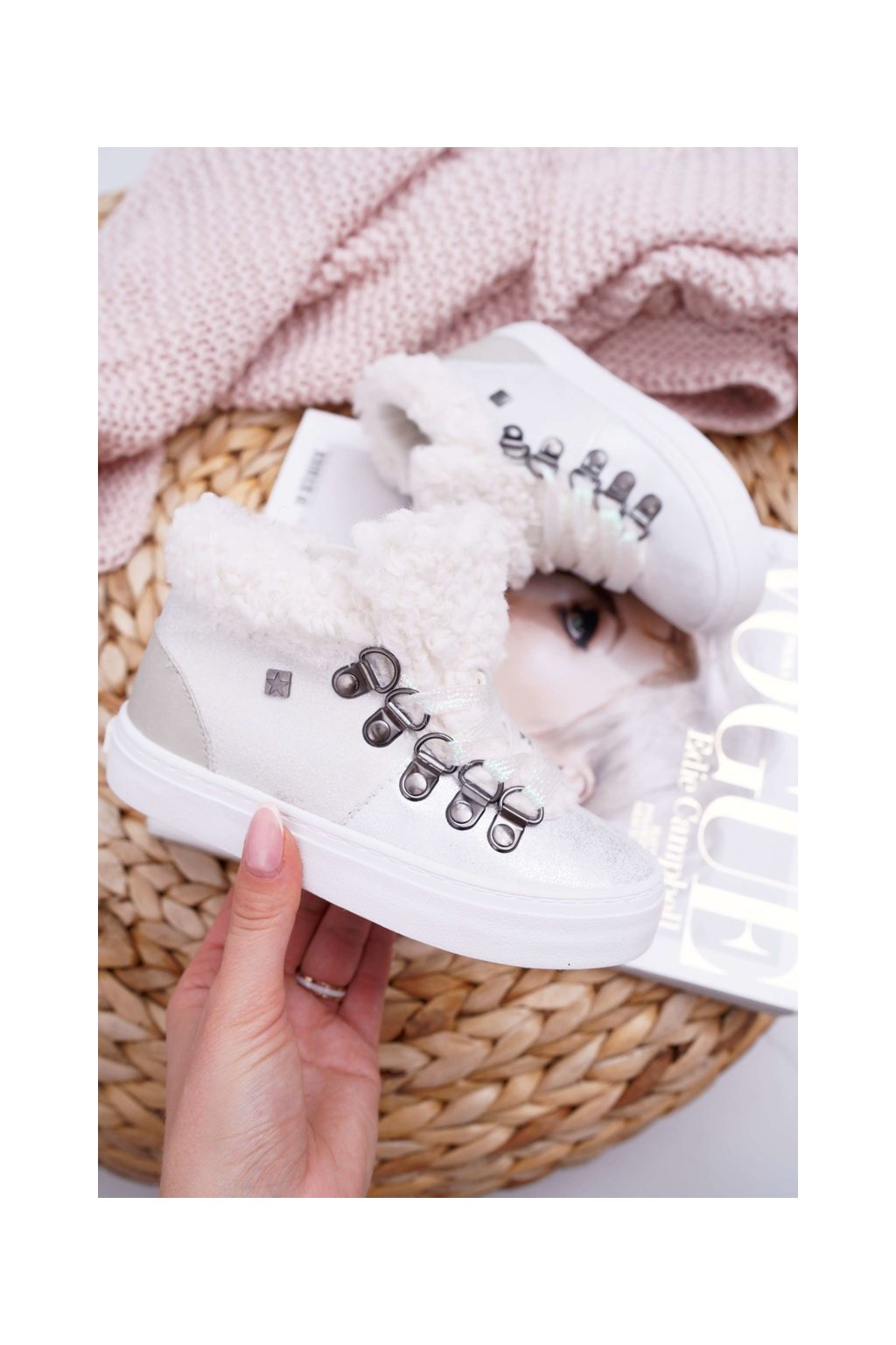 Detské tenisky farba biela kód obuvi EE374017 WHITE
