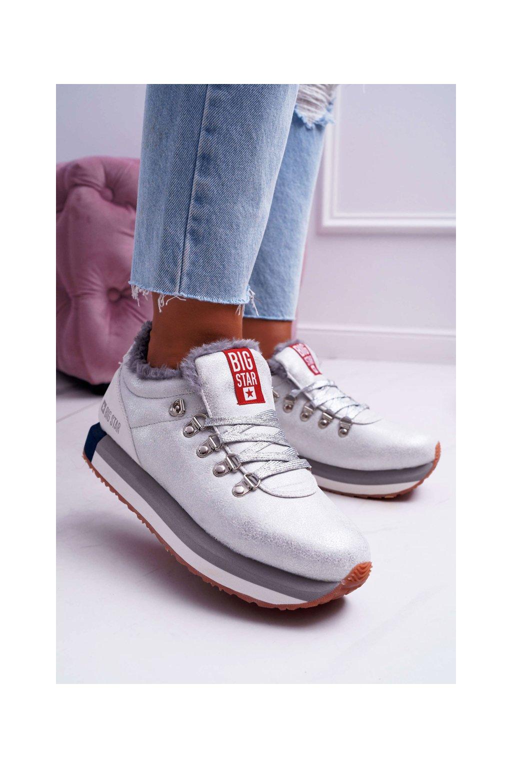 Dámska športová obuv B. Star strieborné EE274731
