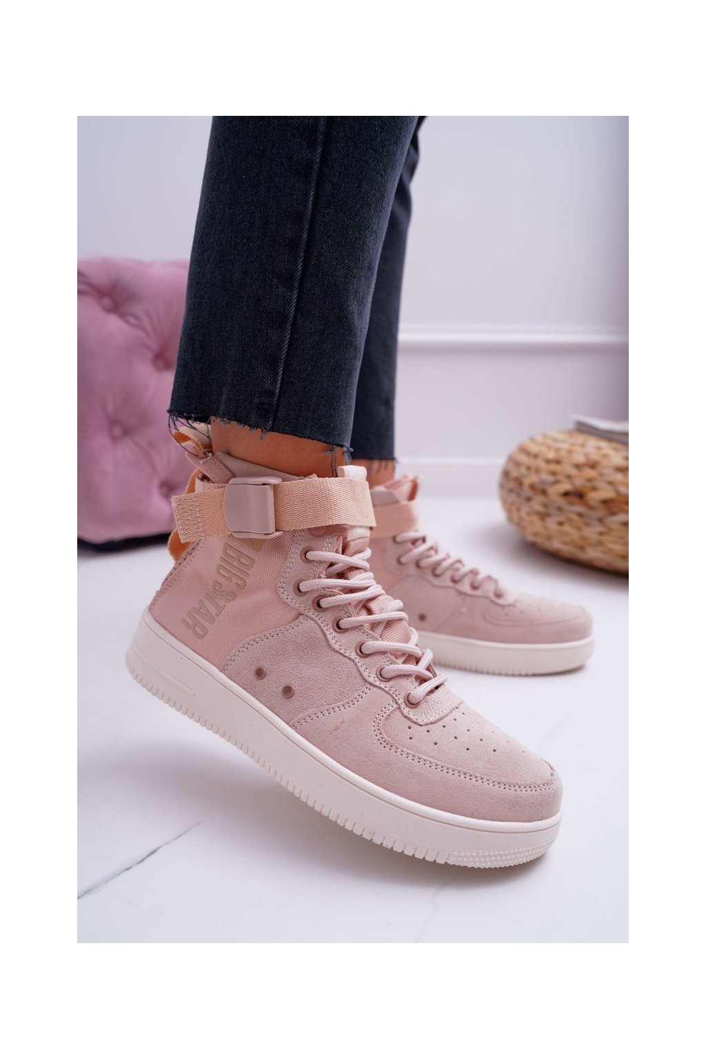 Dámske tenisky farba ružová kód obuvi EE274658 PINK