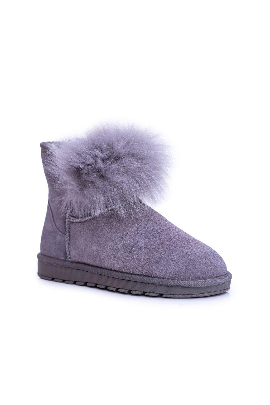 Dámske snehule farba sivá kód obuvi W8011 GREY