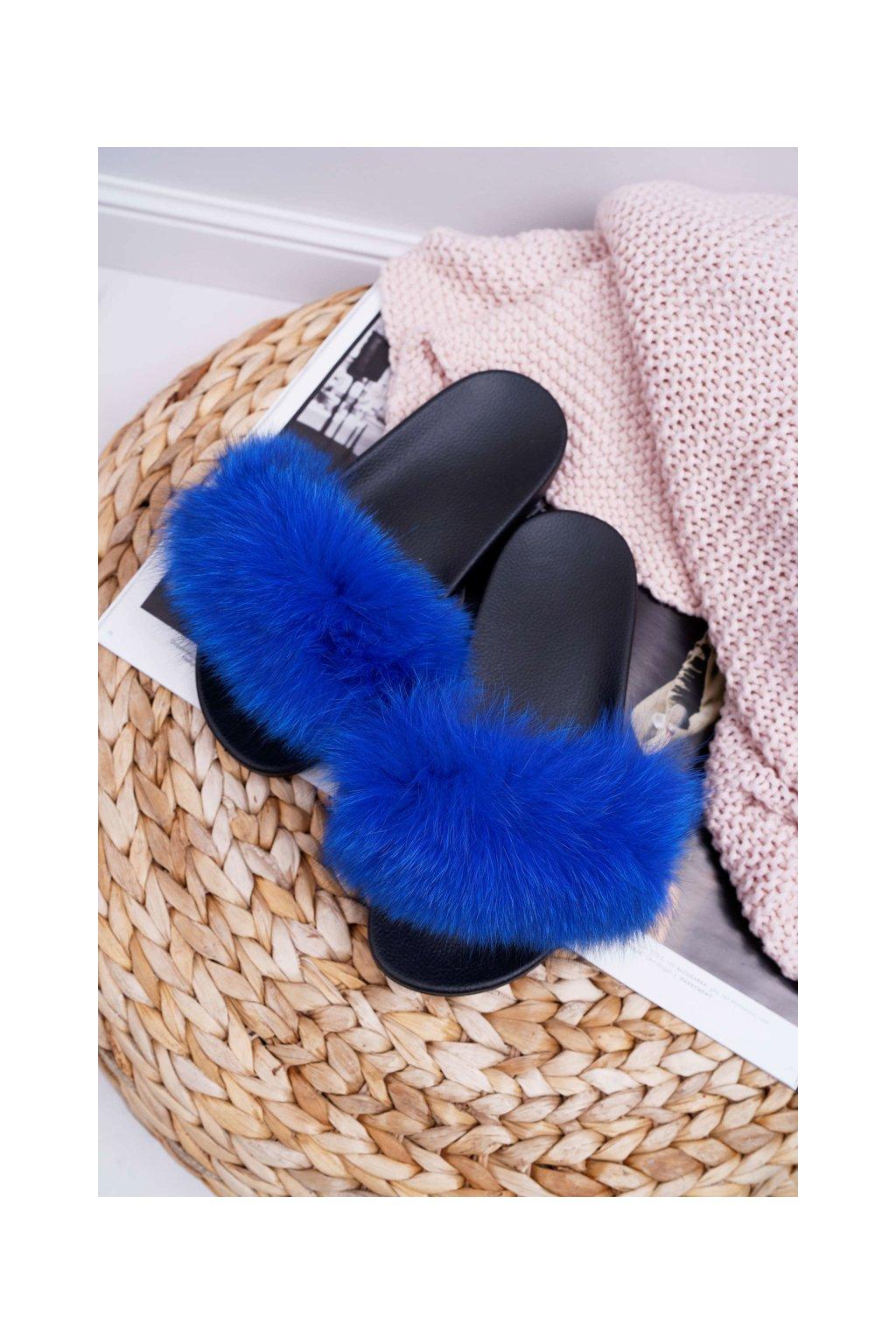 Dámske šľapky farba modrá kód obuvi 870 SAPPHIRE