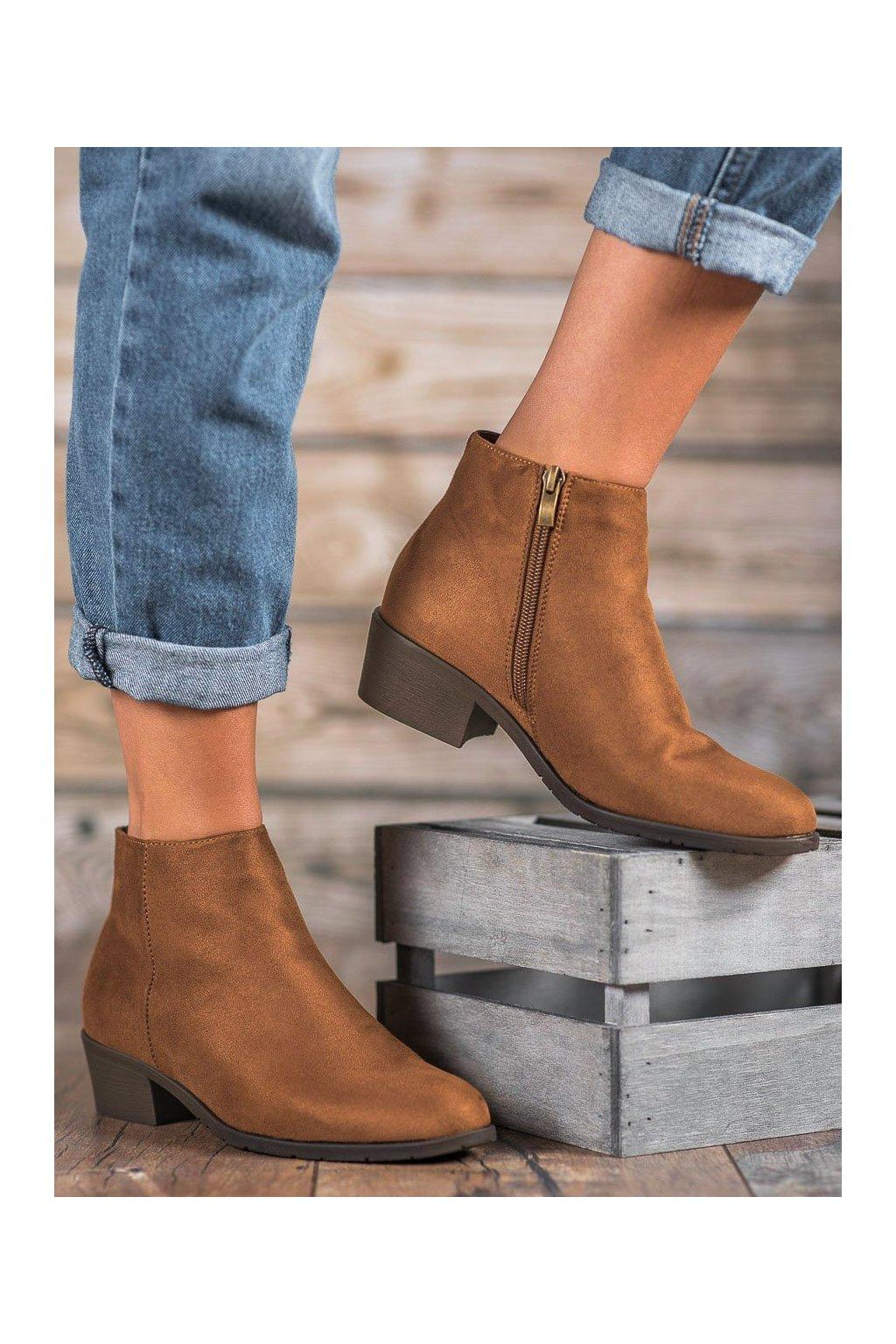 Hnedé dámske topánky Filippo kod DBT1048/19BR
