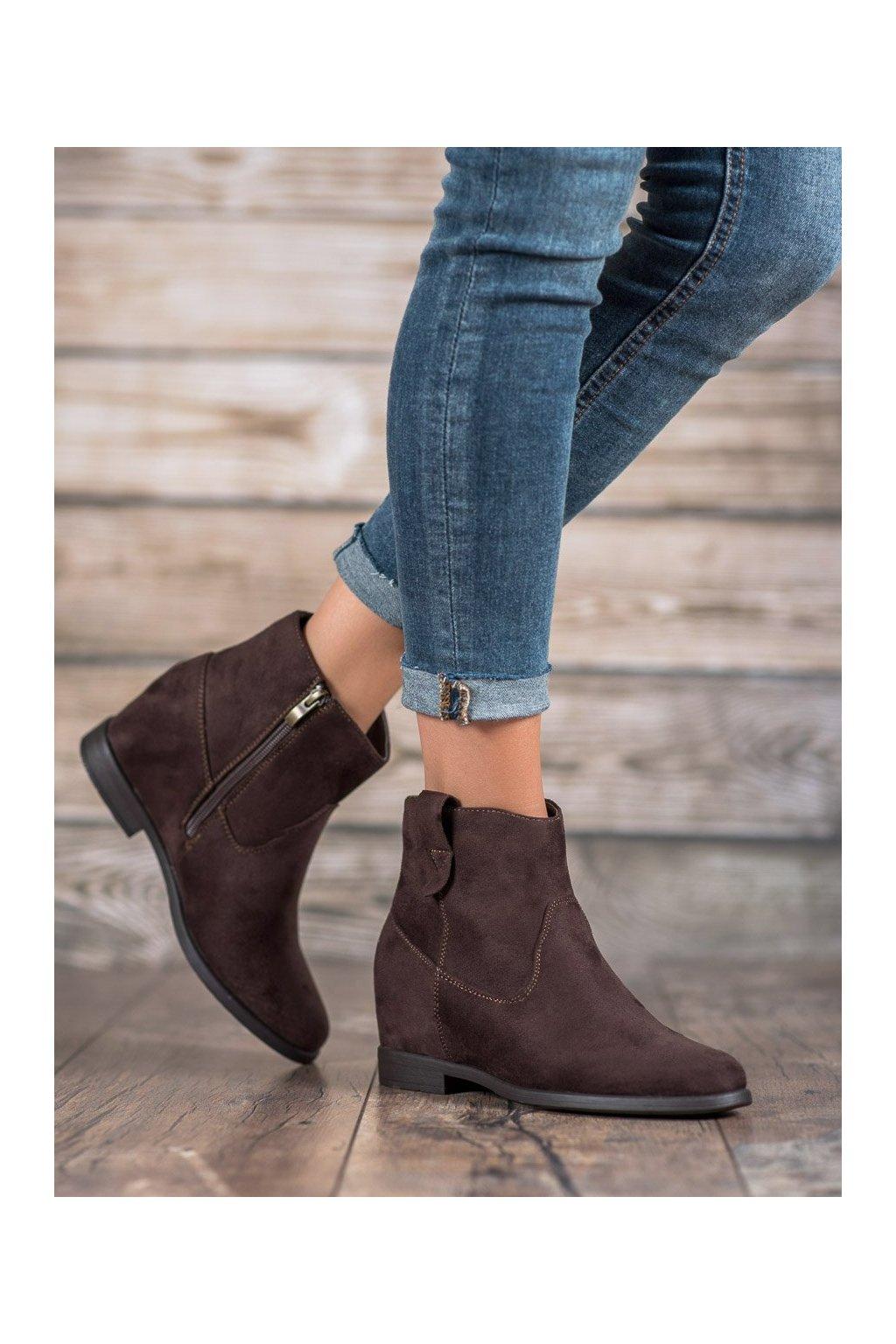 Hnedé dámske topánky Filippo kod DBT1052/19D.BR