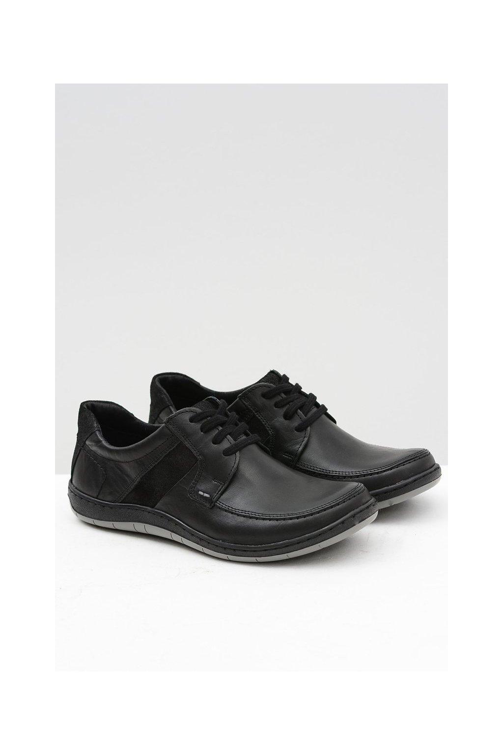 Pánske poltopánky farba čierna kód obuvi 853 11 BLK