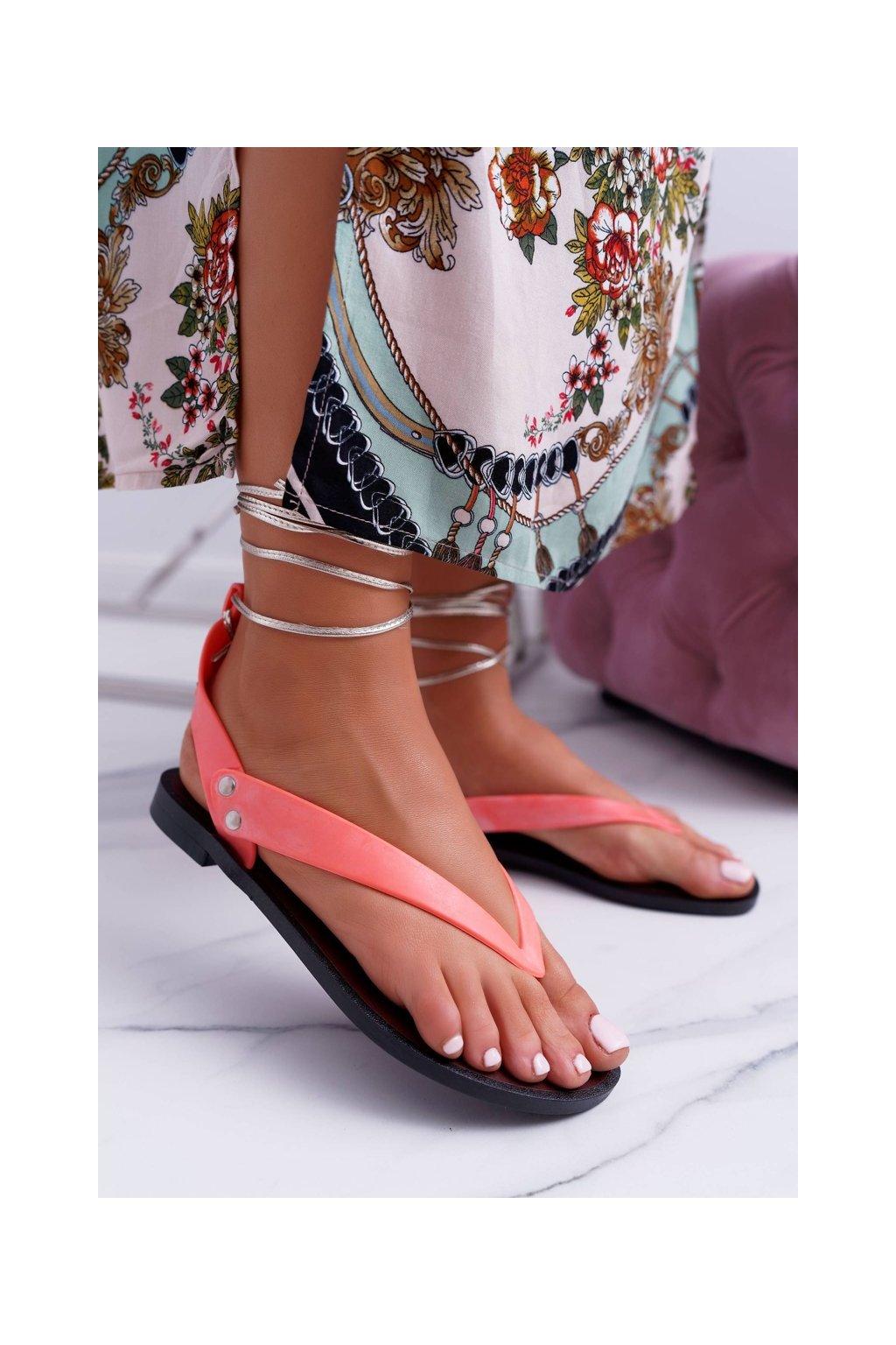 Lu Boo ružové viazané japonskej sandále Florence