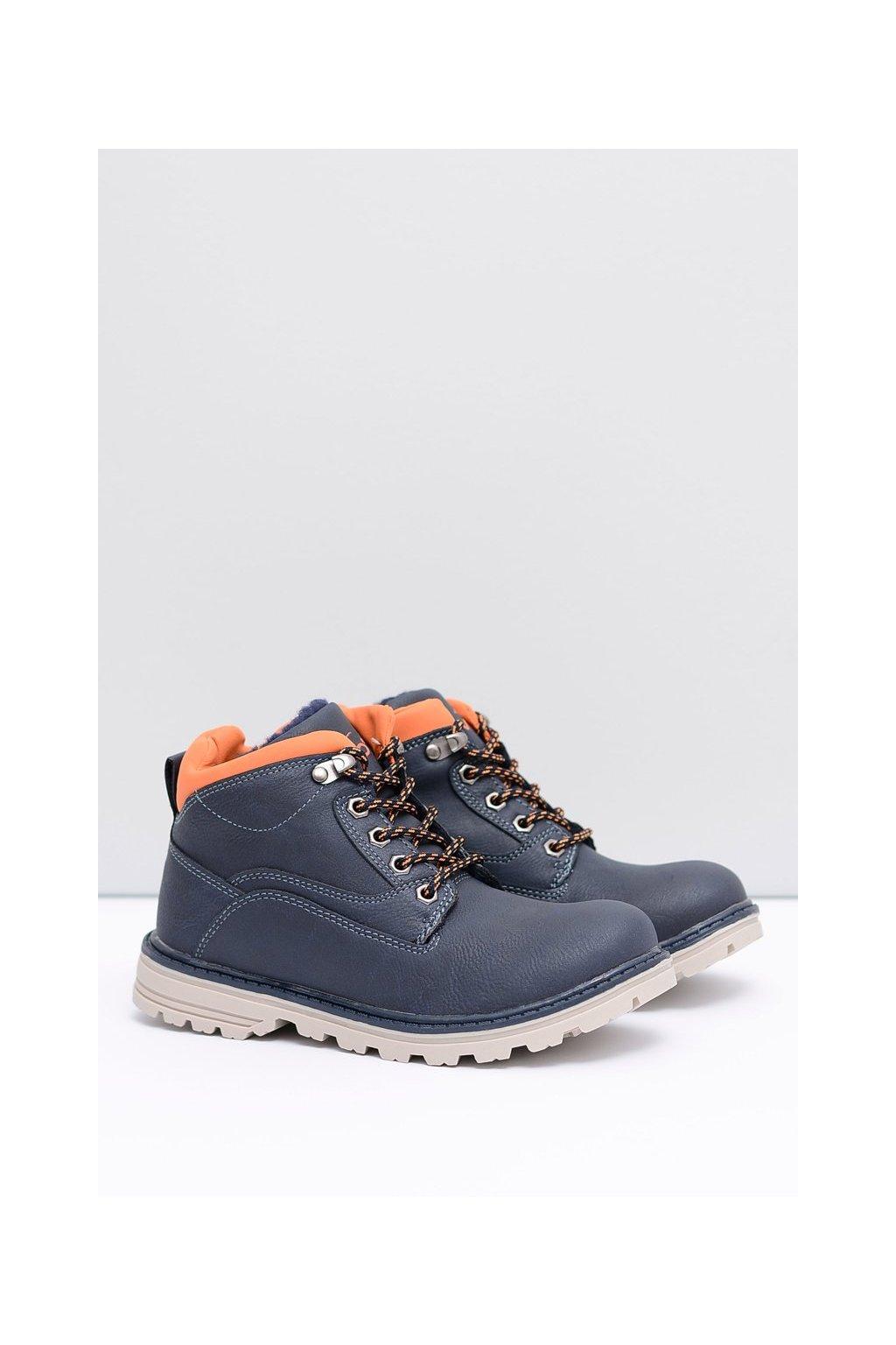 Detské členkové topánky farba modrá kód obuvi VOP16D17-2 NAVY