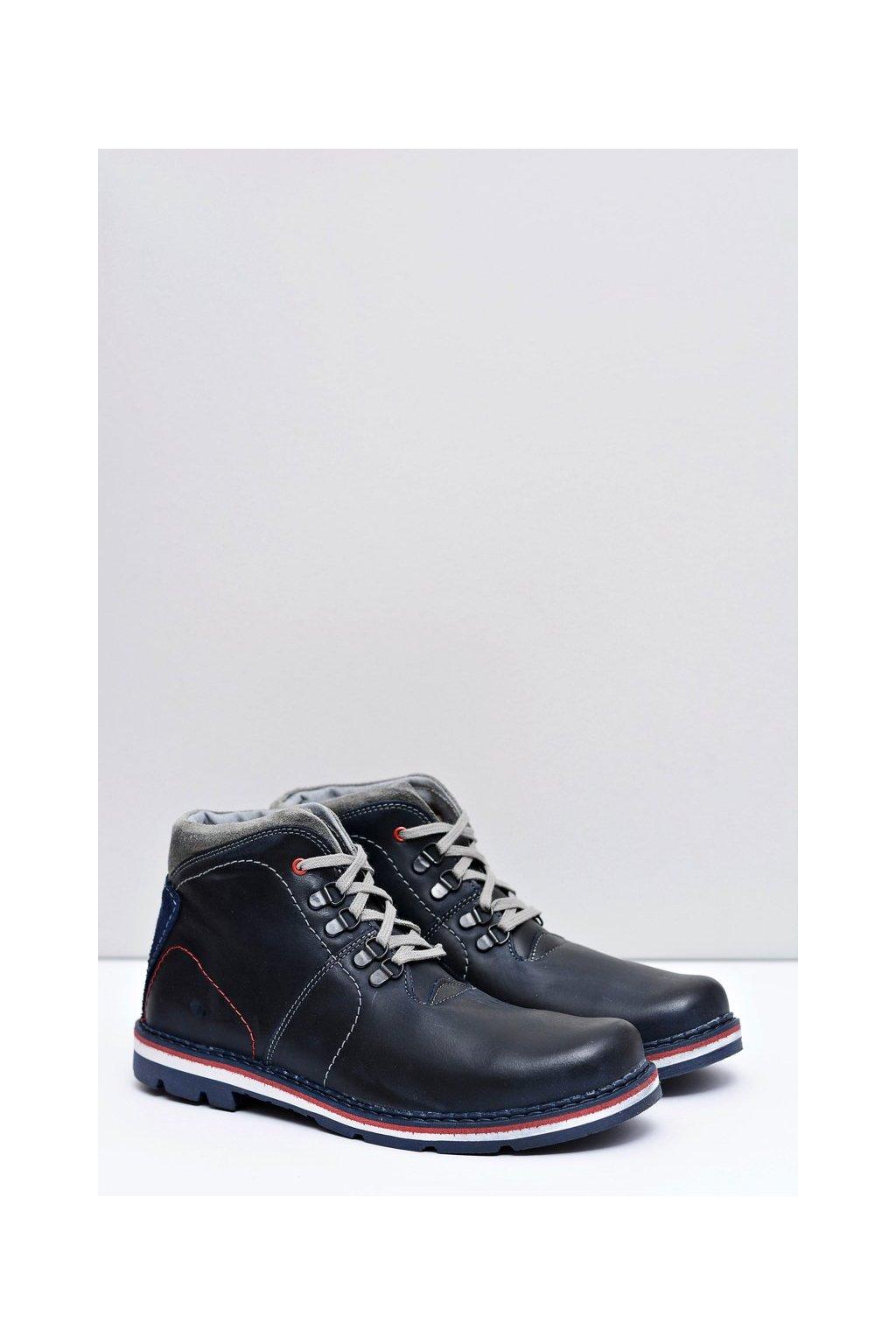 Pánske topánky na zimu farba modrá kód obuvi 121 NAVY