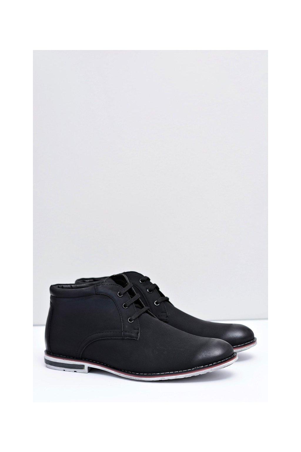 Pánske čierne vysoké topánky Ramirez