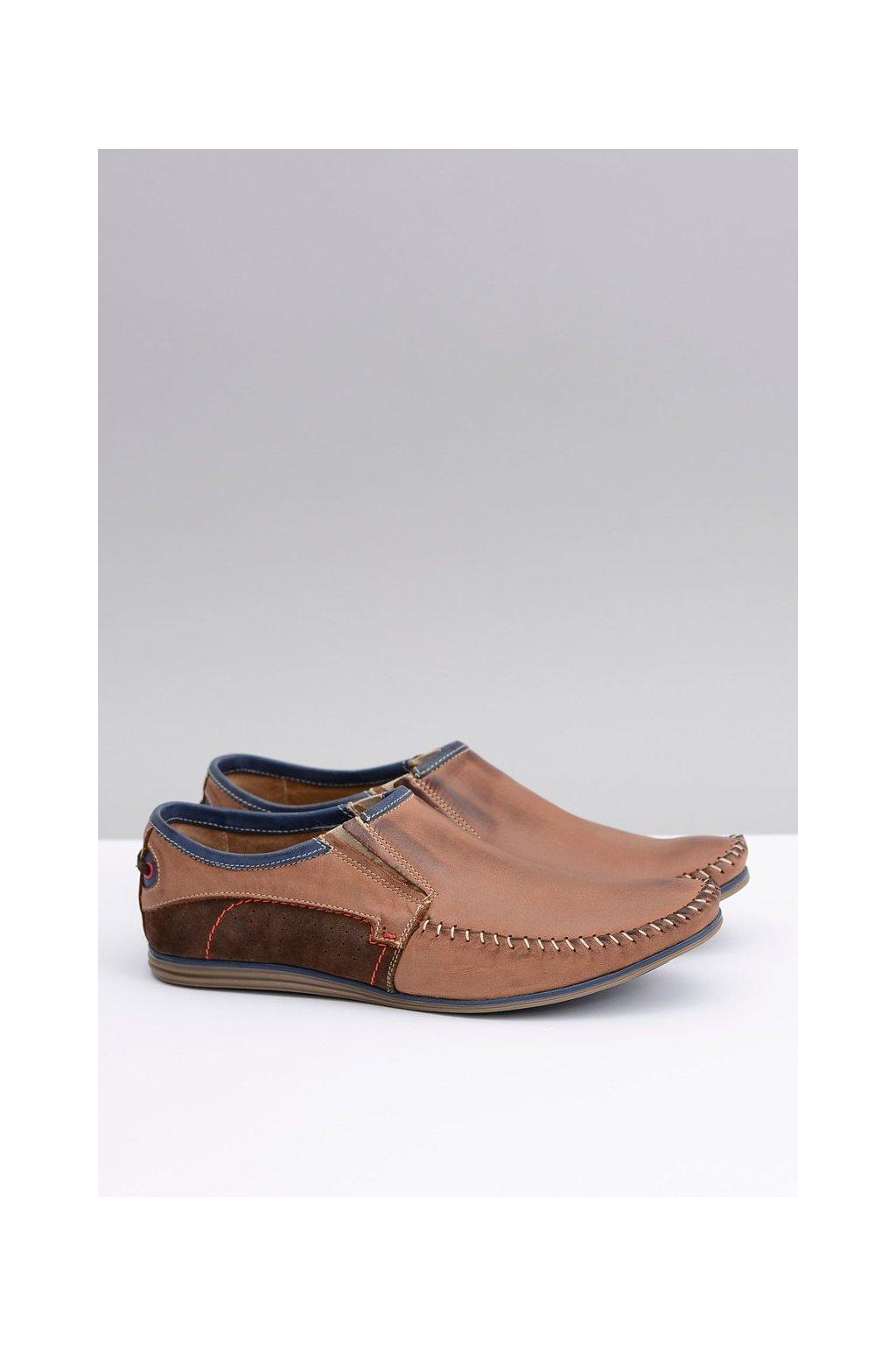 Pánske poltopánky farba hnedá kód obuvi 847 BROWN/NAVY