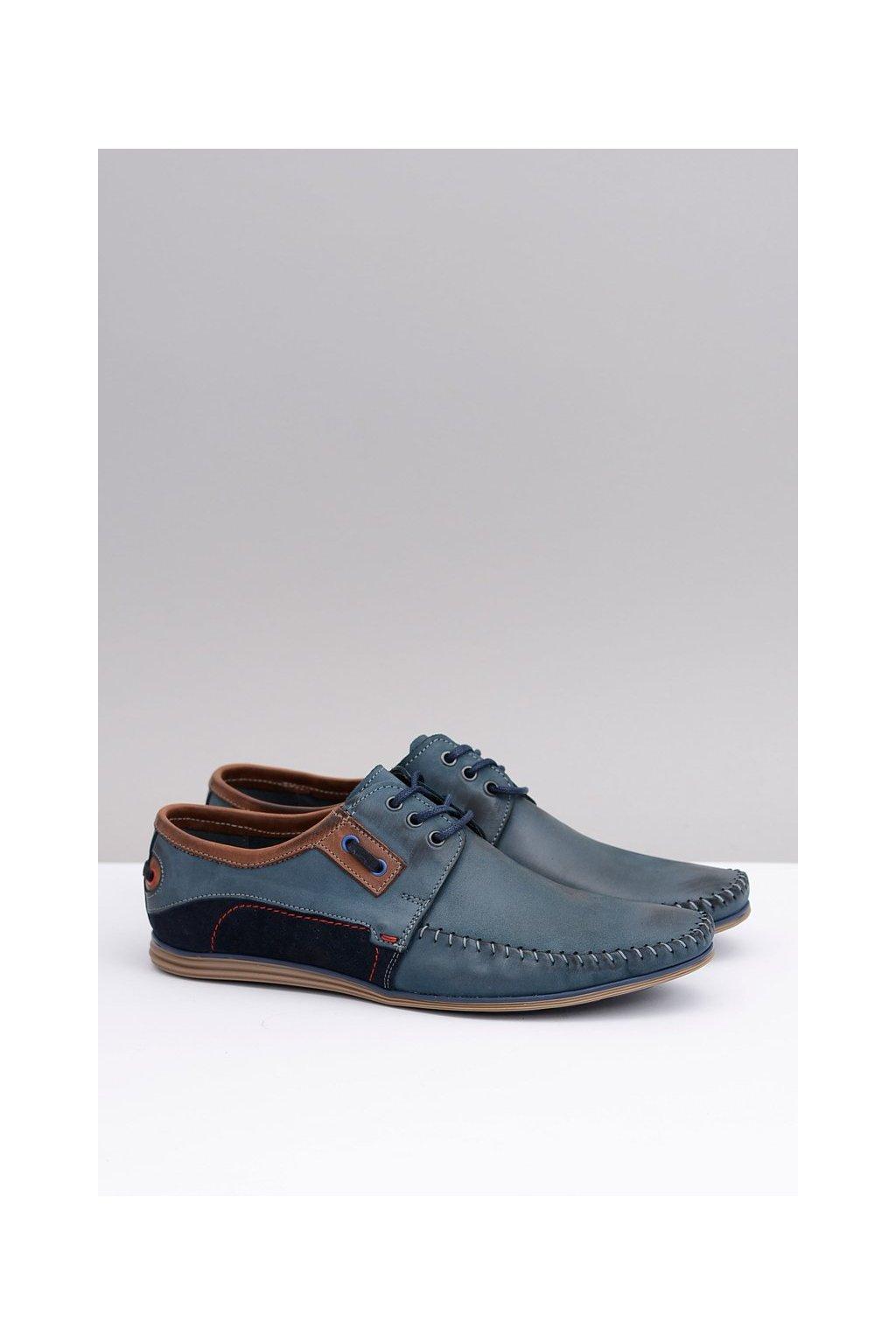 Pánske poltopánky farba modrá kód obuvi 846 NAVY/NAVY