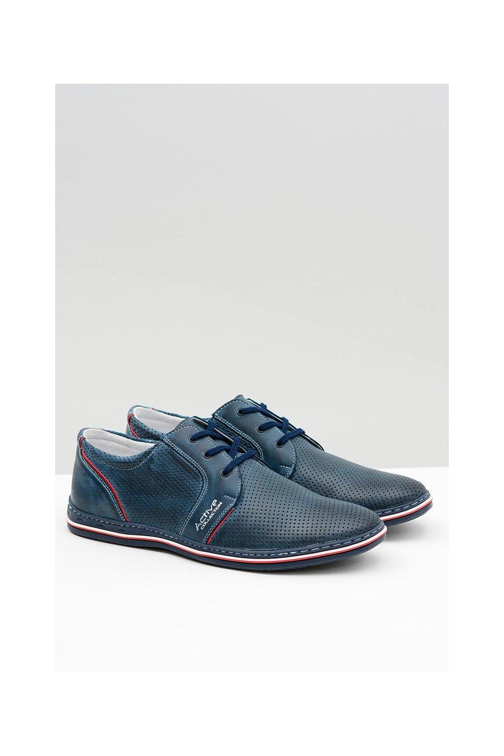 Pánske poltopánky farba modrá kód obuvi 322 P/NAVY