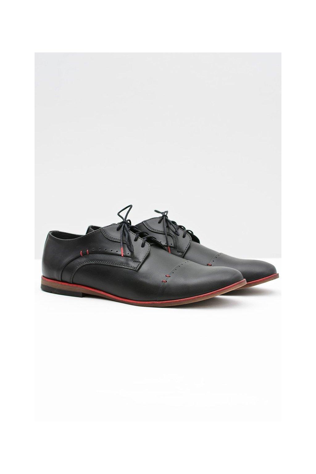 Pánske poltopánky farba čierna kód obuvi 375 BLK