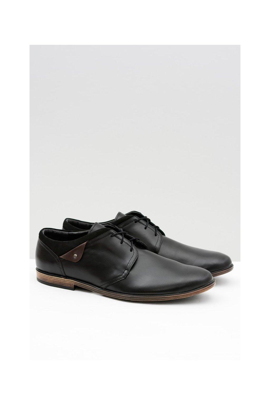 Pánske poltopánky farba čierna kód obuvi 400 BLK