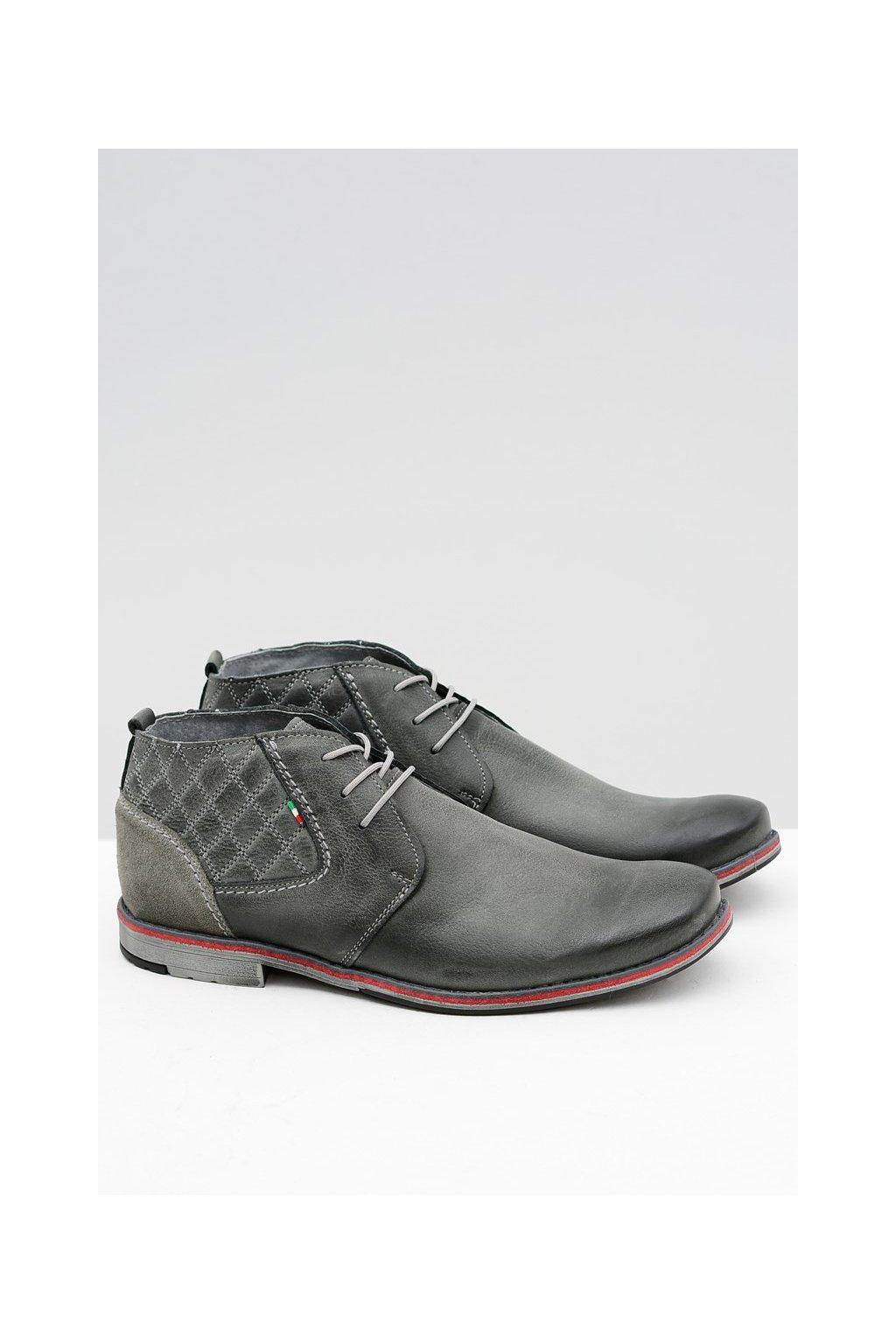 Pánske poltopánky farba sivá kód obuvi 254 GREY