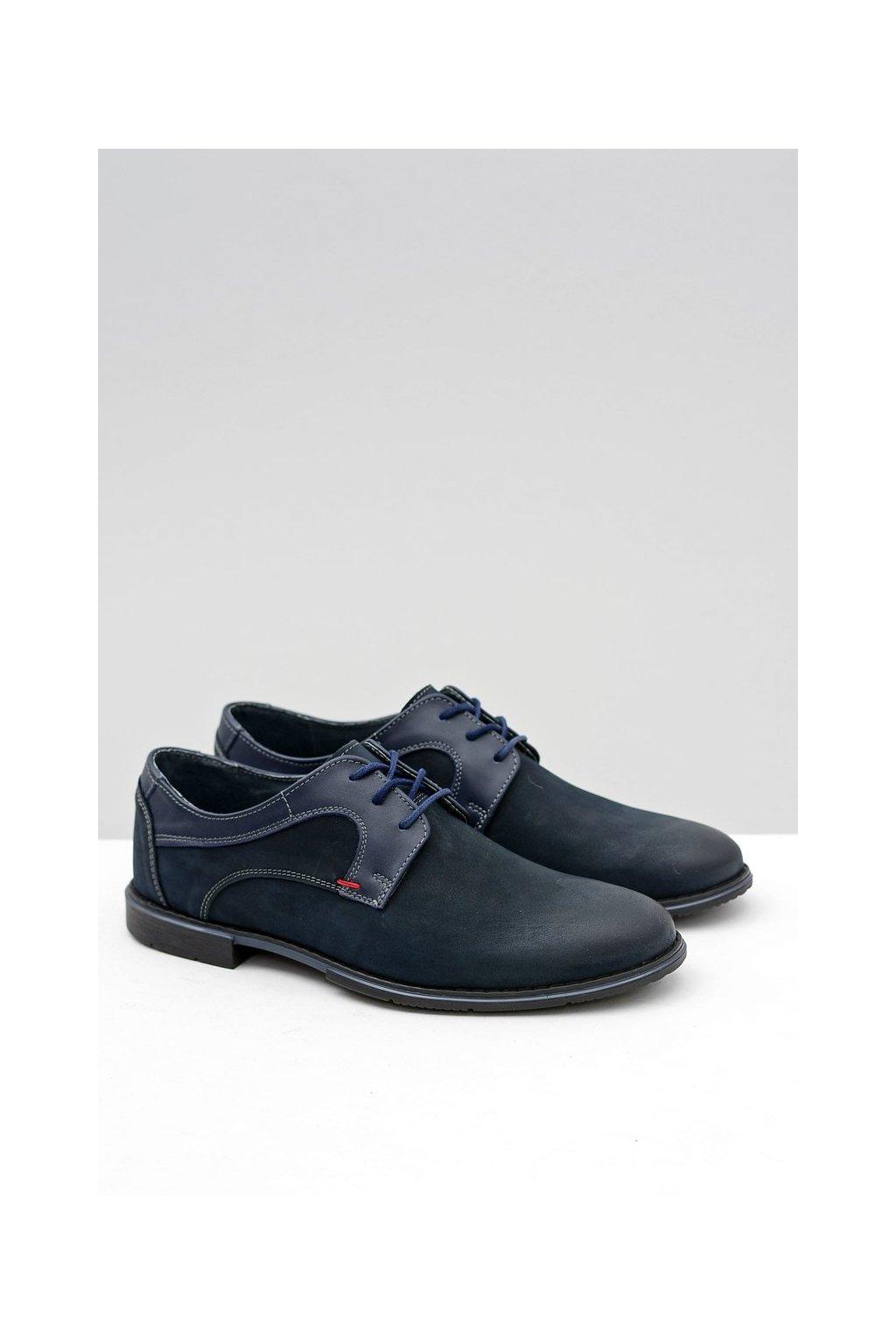 Modré kožené topánky Pietro