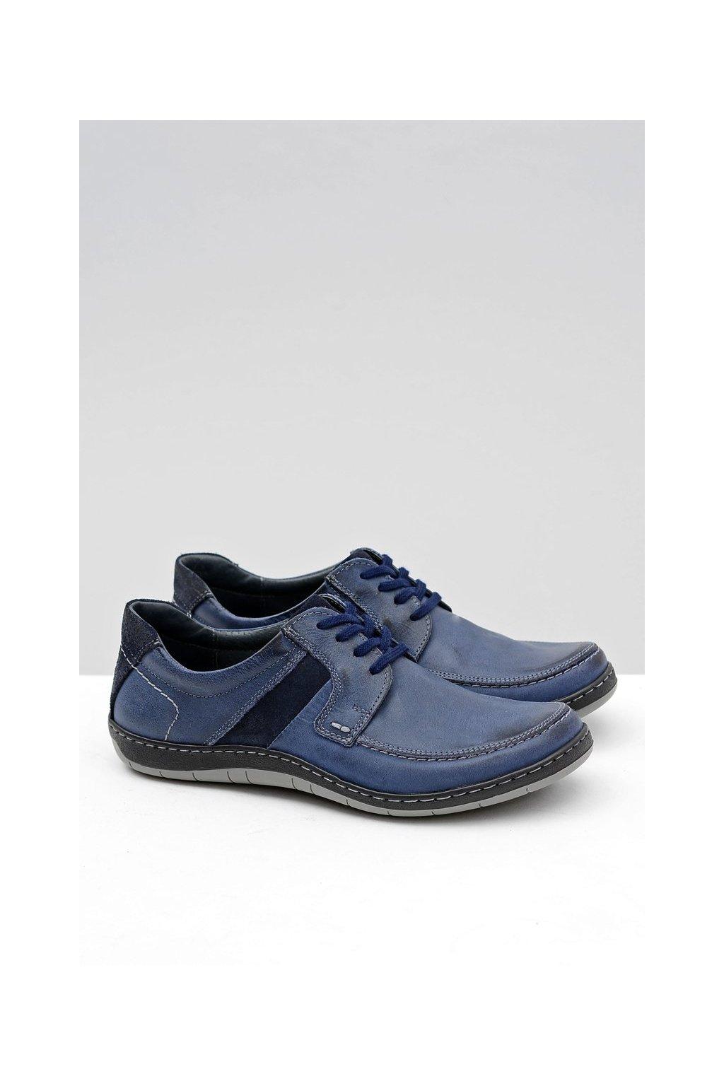 Kožená pánska klasická modrá obuv Rocco