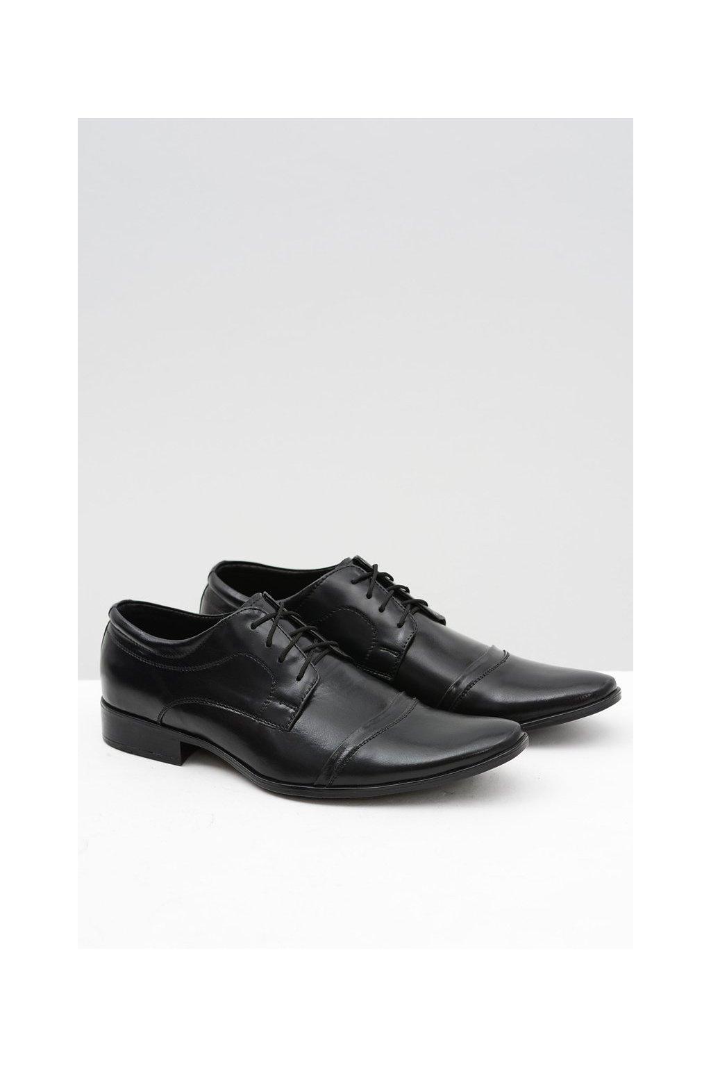 Pánske poltopánky farba čierna kód obuvi 210 BLK