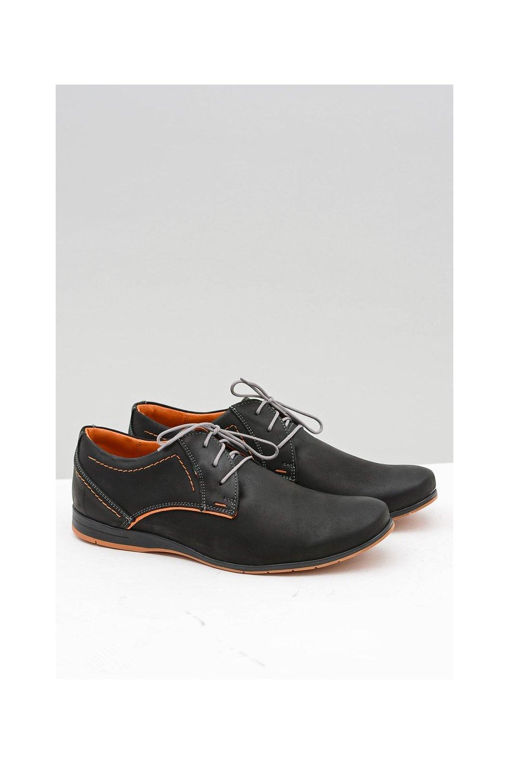Pánske neformálne kožené topánky na voľný čas